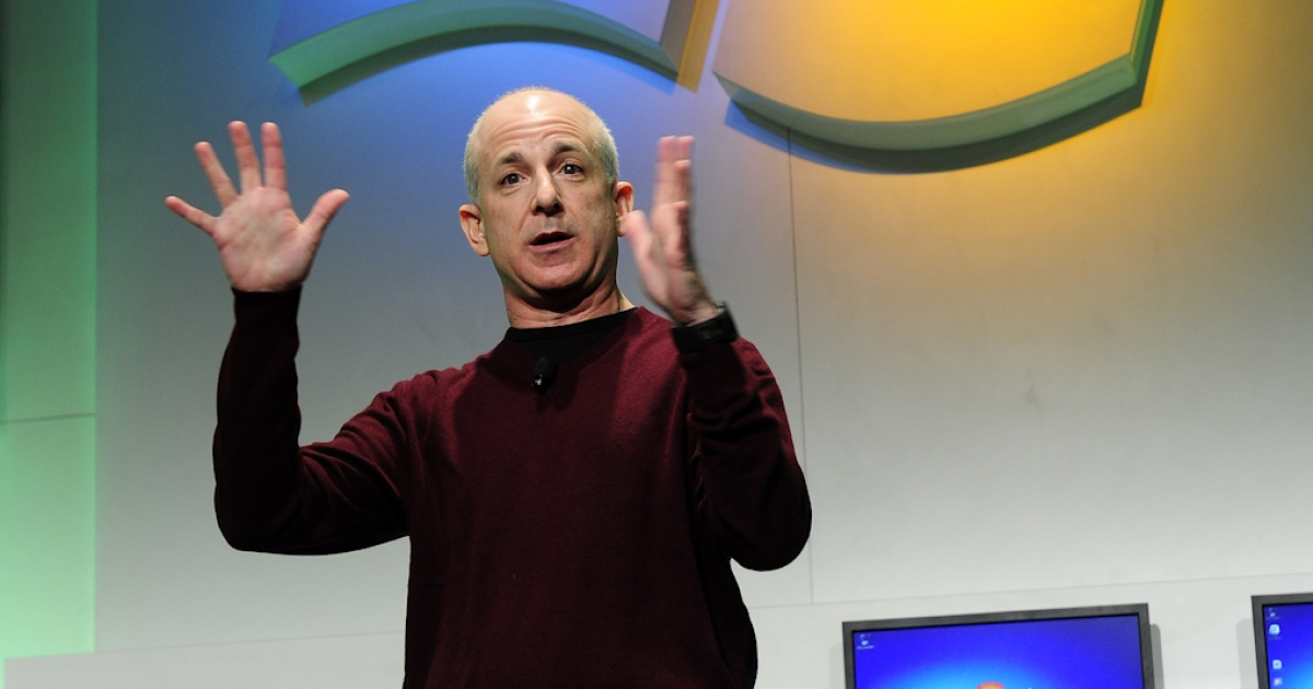 Steven Sinofsky, president of Windows and Windows Live Division at Microsoft, talks about the next version of Windows running on 'System on a Chip' (SoC) architectures at a Microsoft press conference at the 2011 International Consumer Electronics Show January 5, 2011 in Las Vegas, Nevada.</p>