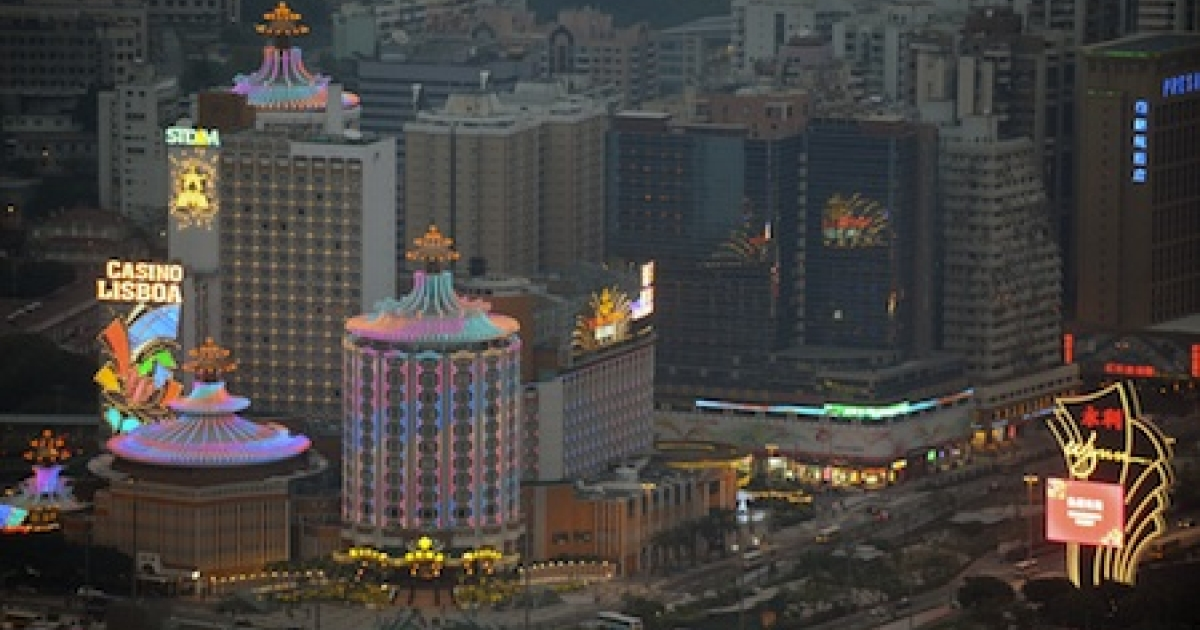 This view from the Macau Tower shows casinos in the central district Macau on December 20, 2009 as the former Portuguese enclave marks ten years of Chinese rule, capping a decade that has seen its transformation from seedy colonial backwater to global gaming hub rivalling the Las Vegas Strip.</p>