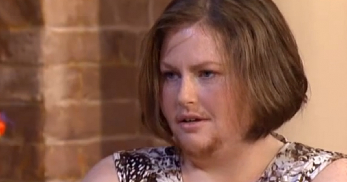 Staffordshire housewife Siobhain Fletcher, 36, has had to shave since puberty but is letting her facial hair grow out in honor of Movember.</p>