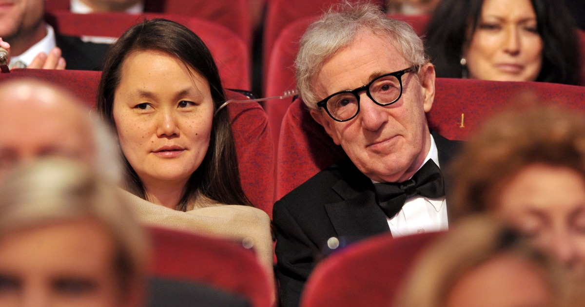 Soon-Yi Previn and Woody Allen sit in the audience at the Opening Ceremony at the Palais des Festivals during the 64th Cannes Film Festival on May 11, 2011 in Cannes, France.</p>