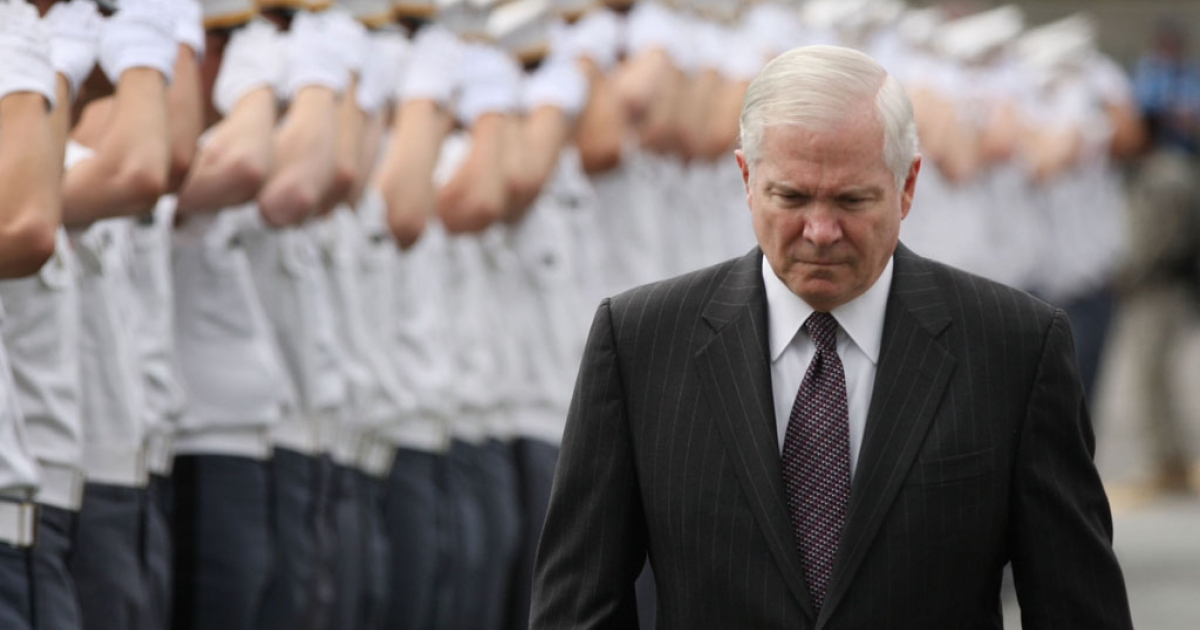 Secretary of Defense Robert Gates at the United States Military Academy at West Point in New York.</p>