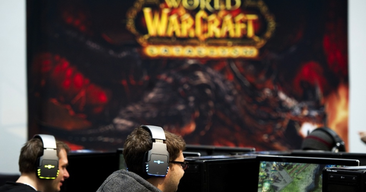Kids play the online computer game 'World of Warcraft' at the CeBIT, the world's biggest IT fair, on March 3, 2011 in Hanover, Germany. World of Warcraft, or WoW, is one of the most popular video games in the world.</p>