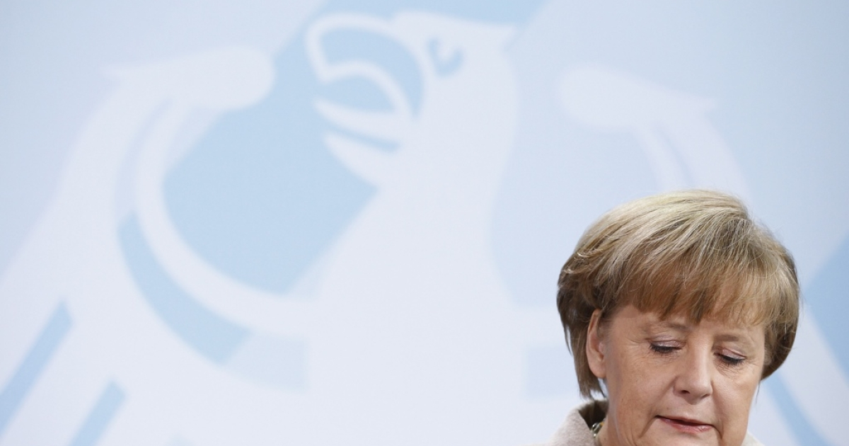 It's not a good day for Merkel.</p>