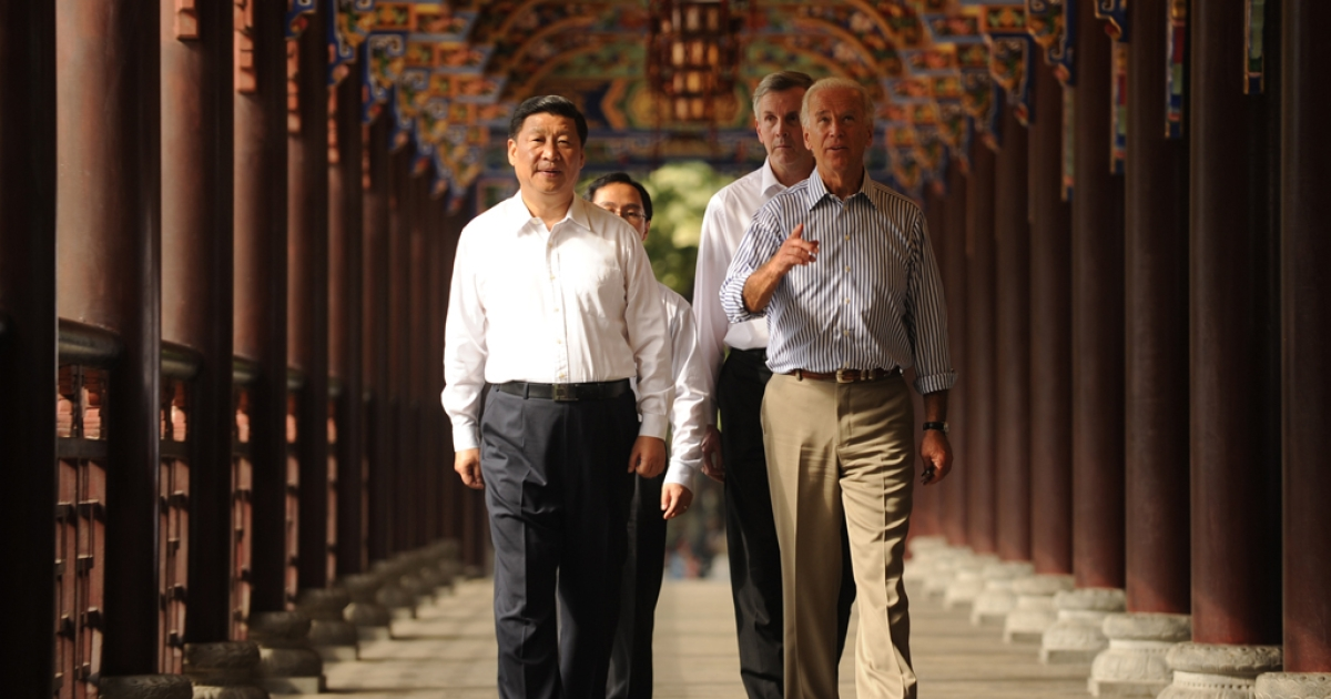 Now China's President, Xi Jinping, sports uncharacteristically casual attire with US Vice President Joe Biden back in 2011.</p>