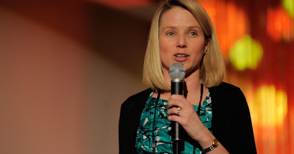 Yahoo chief executive Marissa Mayer.</p>