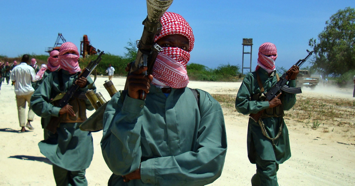 Islamist fighters from the hard-line Shabab movement taking part in a military drill at a camp in the nothern outskirts of Mogadishu. Rumours persist that Somali mercenaries are involved in the fighting in Yemen.</p>