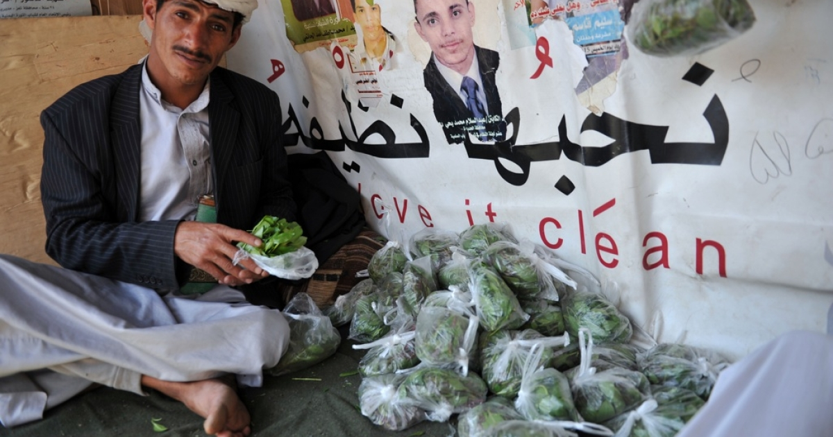 Yemenis widely chew qat, a plant with narcotic properties. But today, Islamists stormed a south Yemen hotel for selling alcohol.</p>