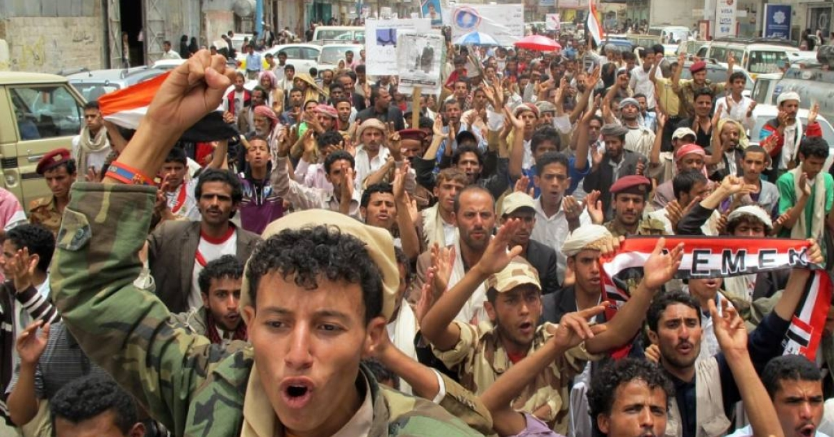 Protests in Yemen, such as this anti-government demonstration in Sanaa on June 20, 2011, have caused instability throughout the country.  Prisoners, such as the terrorists who escaped, have taken advantage of this instability.</p>