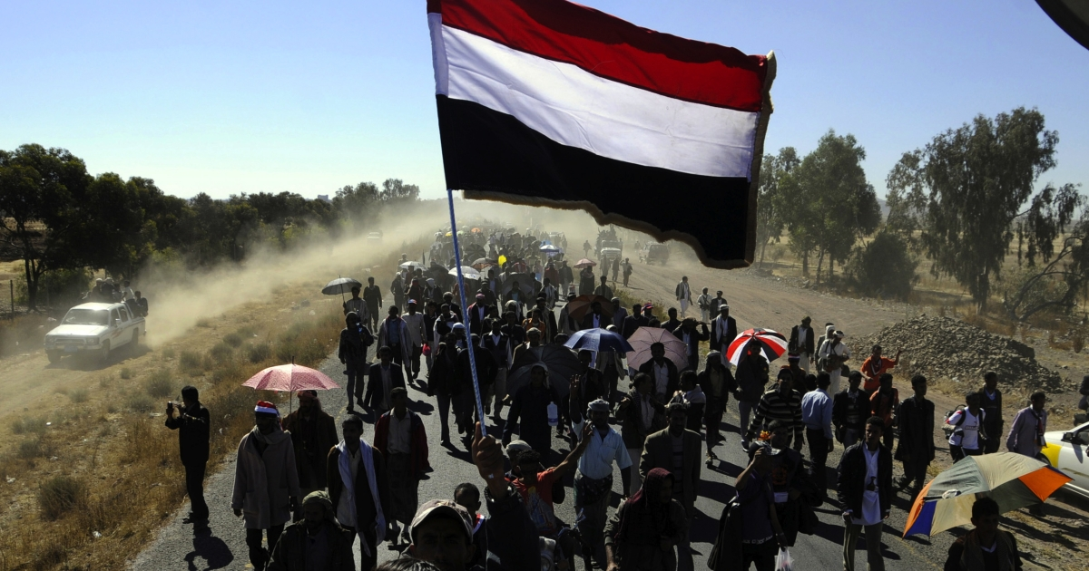 Protesters marched 155 miles for four days to Yemen's capital.</p>