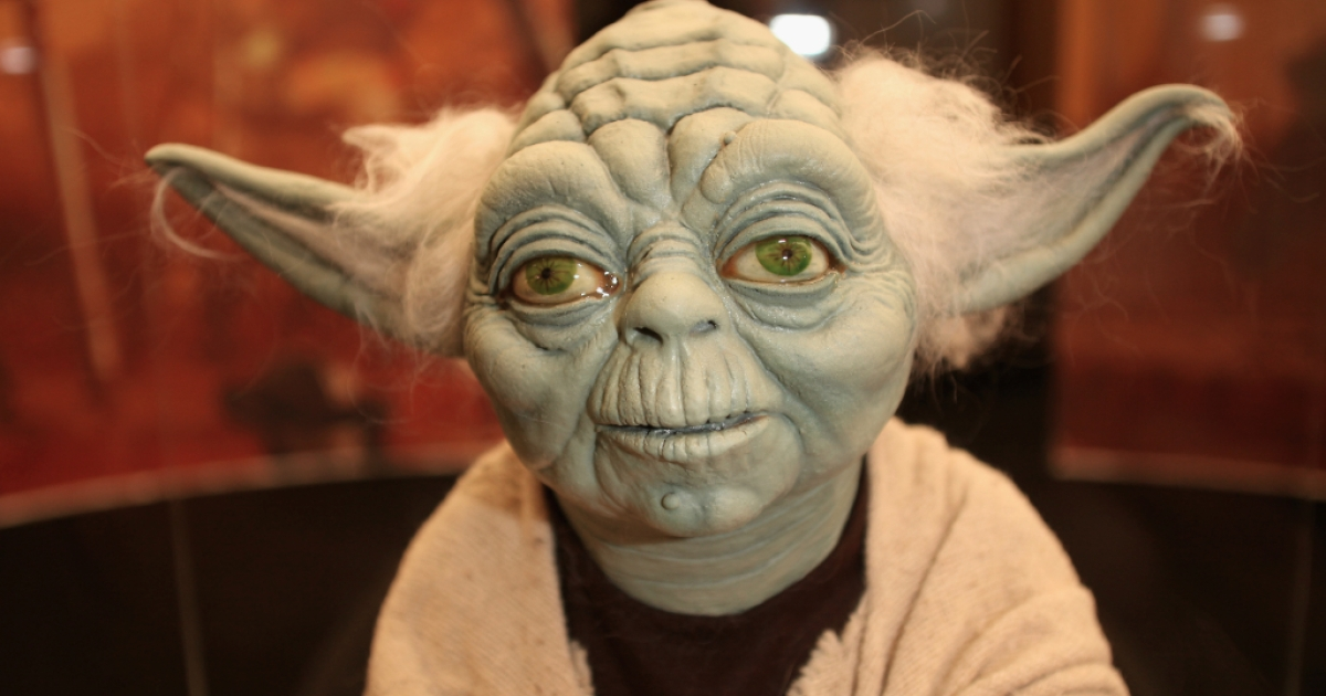A new deep-sea worm is named after the Star Wars character Yoda. Here, a Yoda model is on display in London, England.</p>