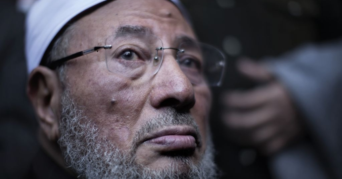 Sheikh Youssef Al Qaradawi, pictured in his native Egypt in February 2011.</p>