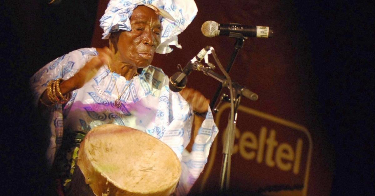 Zanzibari legend Bi Kidude bint Baraka, over 100, performs at the Sauti za Busara Music Festival in Zanzibar.</p>