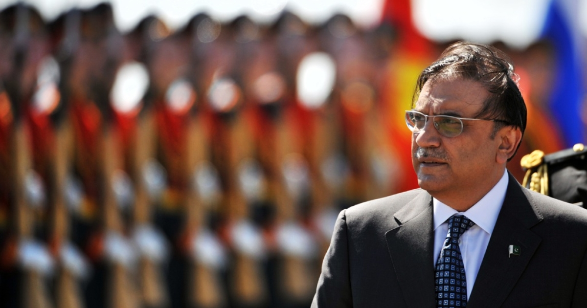 Pakistani President Azif Ali Zardari in Moscow on May 11, 2011.</p>