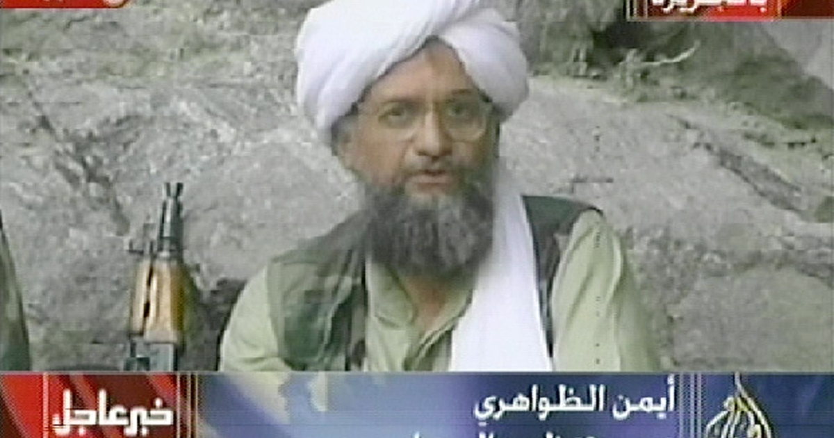 Al Qaeda leader Ayman al-Zawahri, seen in video footage filmed in Afghanistan by Al Jazeera in October 2001.</p>