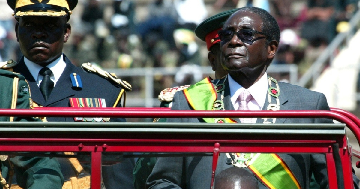 Zimbabwean President Robert Mugabe is upset by WikiLeaks disclosures that show some of his allies told U.S. diplomats that it is time for him to retire. Here Mugabe inspects the army at the National Sports Stadium in Harare on August 9, 2011 to mark defence forces day.</p>