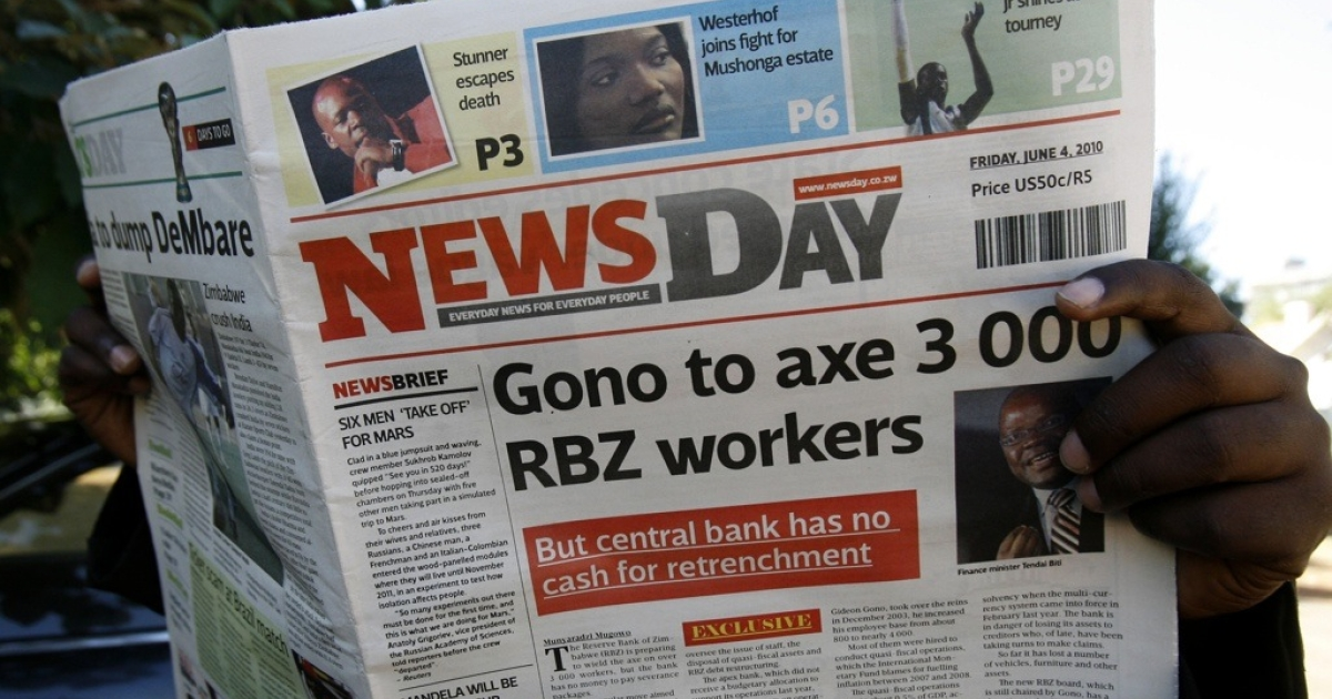 NewsDay is one of the new, privately owned newspapers that President Robert Mugabe has permitted to print in the past year, but the government has refused to allow more press freedom.</p>