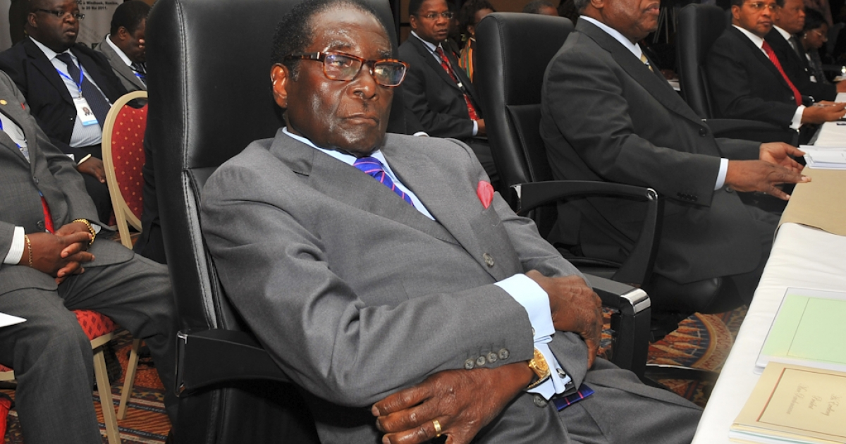 Zimbabwe's President Robert Mugabe did not attend the Mr. Ugly pageant, although it did have the support of the Zimbabwe Tourism Authority and National Arts Council. In this photo, Mugabe attends the opening session of the Southern African Development Community (SADC) extraordinary summit in Namibia's capital Windhoek on May 20, 2011.</p>