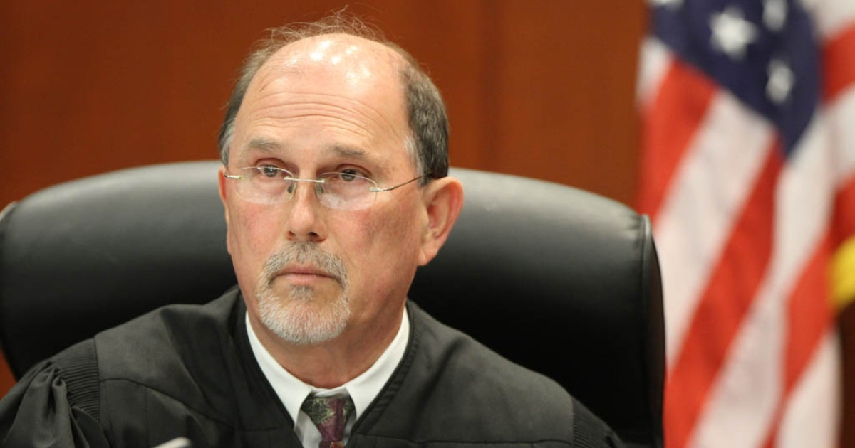 SANFORD, FL- JUNE 29: Judge Kenneth Lester presides over George Zimmerman's bond hearing in Seminole County courtroom on June 29, 2012 in Sanford, Judge Lester denied a defense request for him to stand down over allegations Zimmerman would not receive a fair trial.</p>