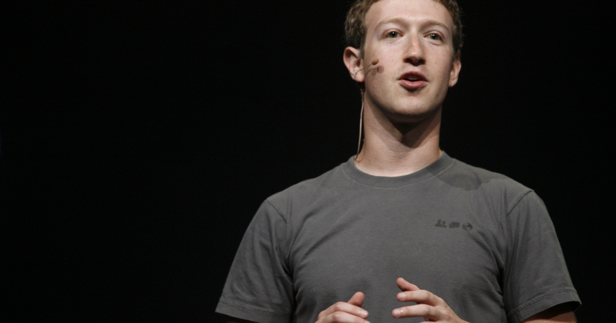 Facebook CEO Mark Zuckerberg delivers a speech at the Facebook f8 Developer Conference at the San Francisco Design Center in San Francisco on Sept. 22, 2011.</p>