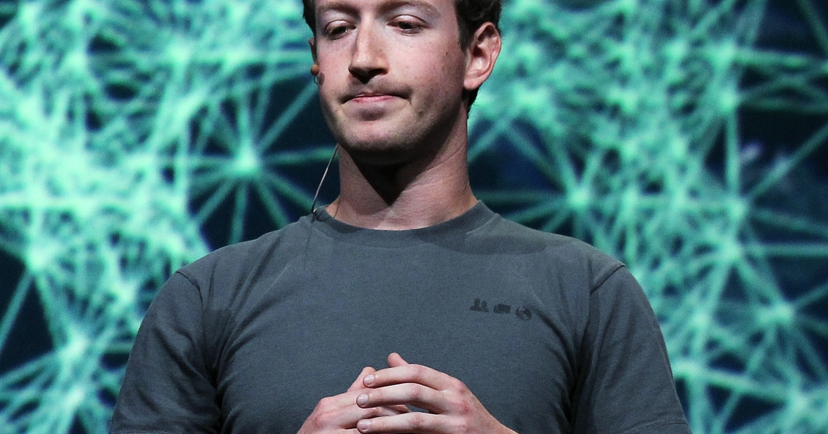 Facebook CEO Mark Zuckerberg at the Facebook f8 conference in San Francisco, Calif., on Sept. 22, 2011.</p>