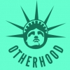 In the Otherhood logo, Lady Liberty looks up
