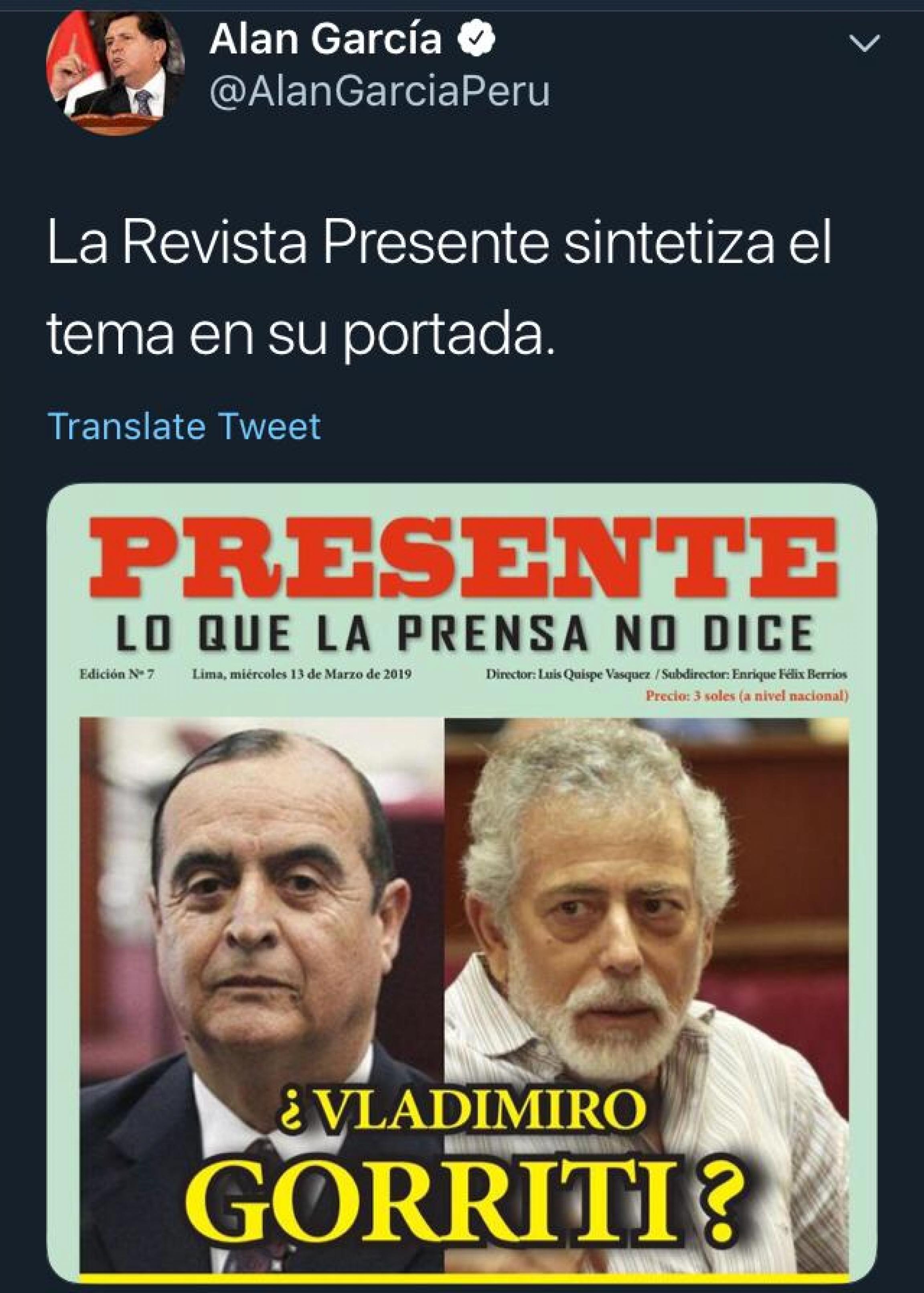 peru tweet