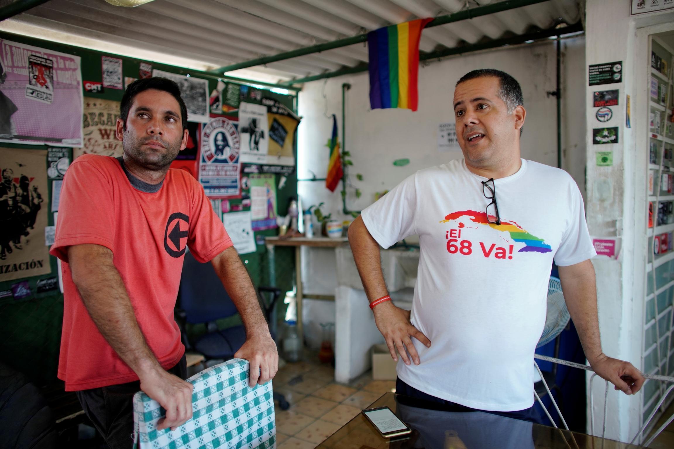 two men in Havana, cuba