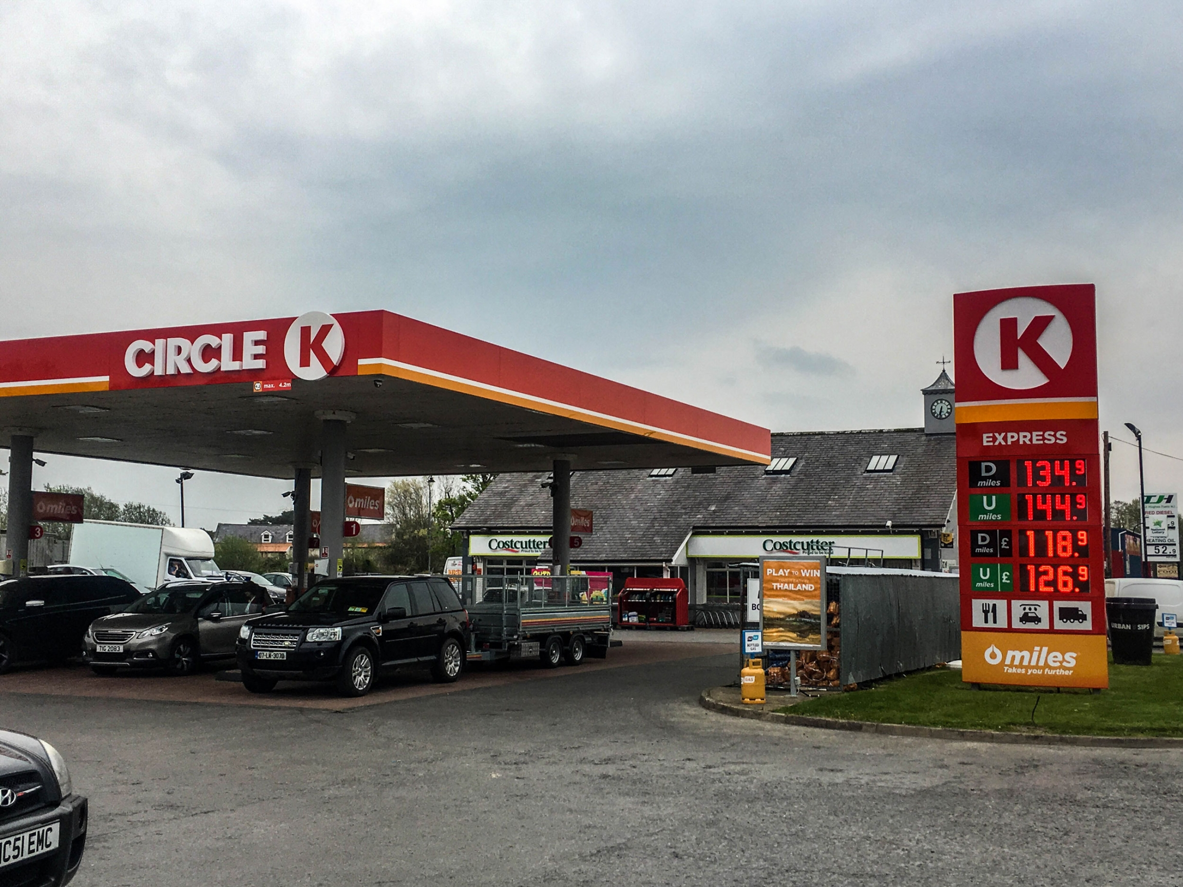 Circle K red sign of gas station