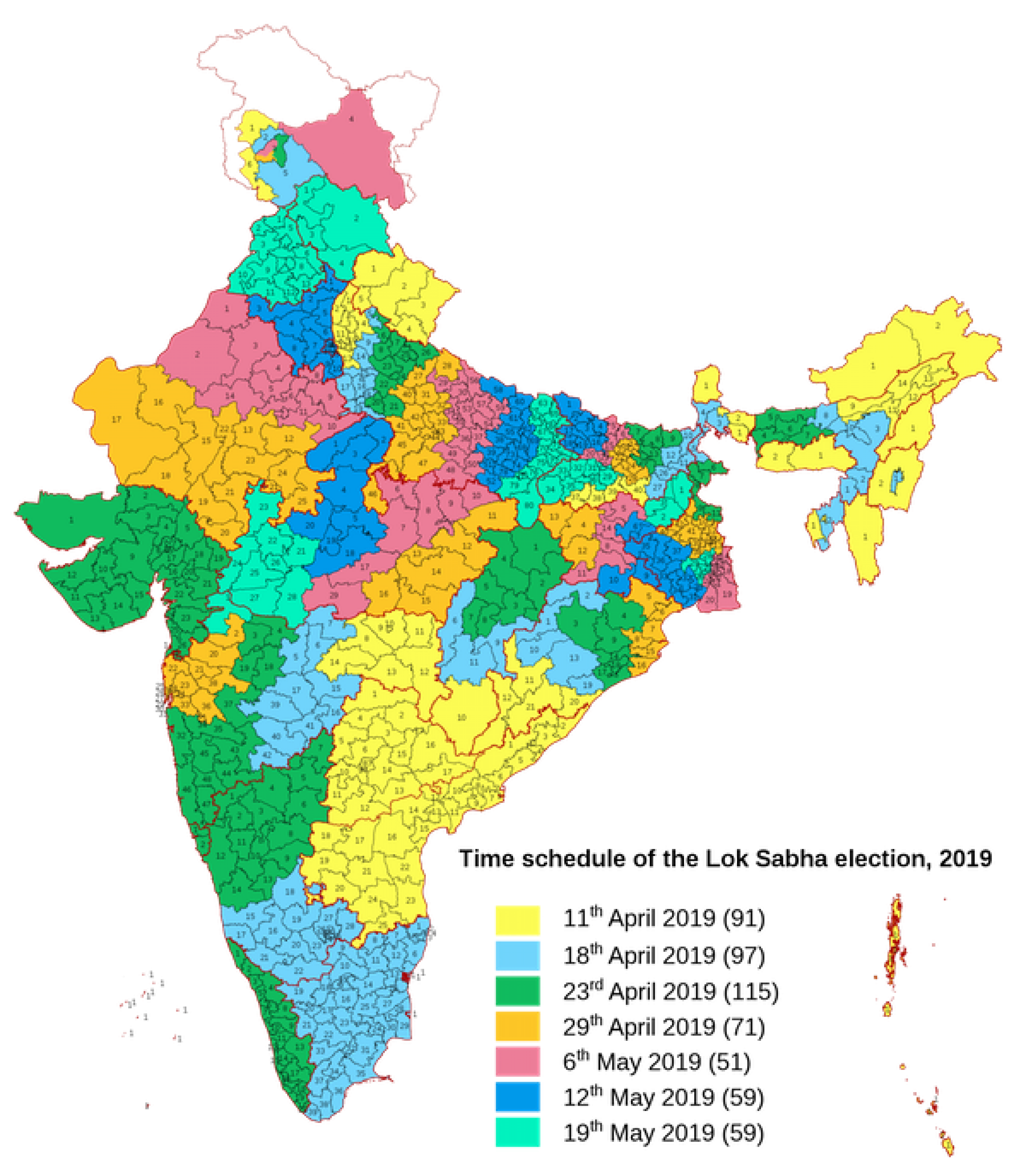 a map of indian voting