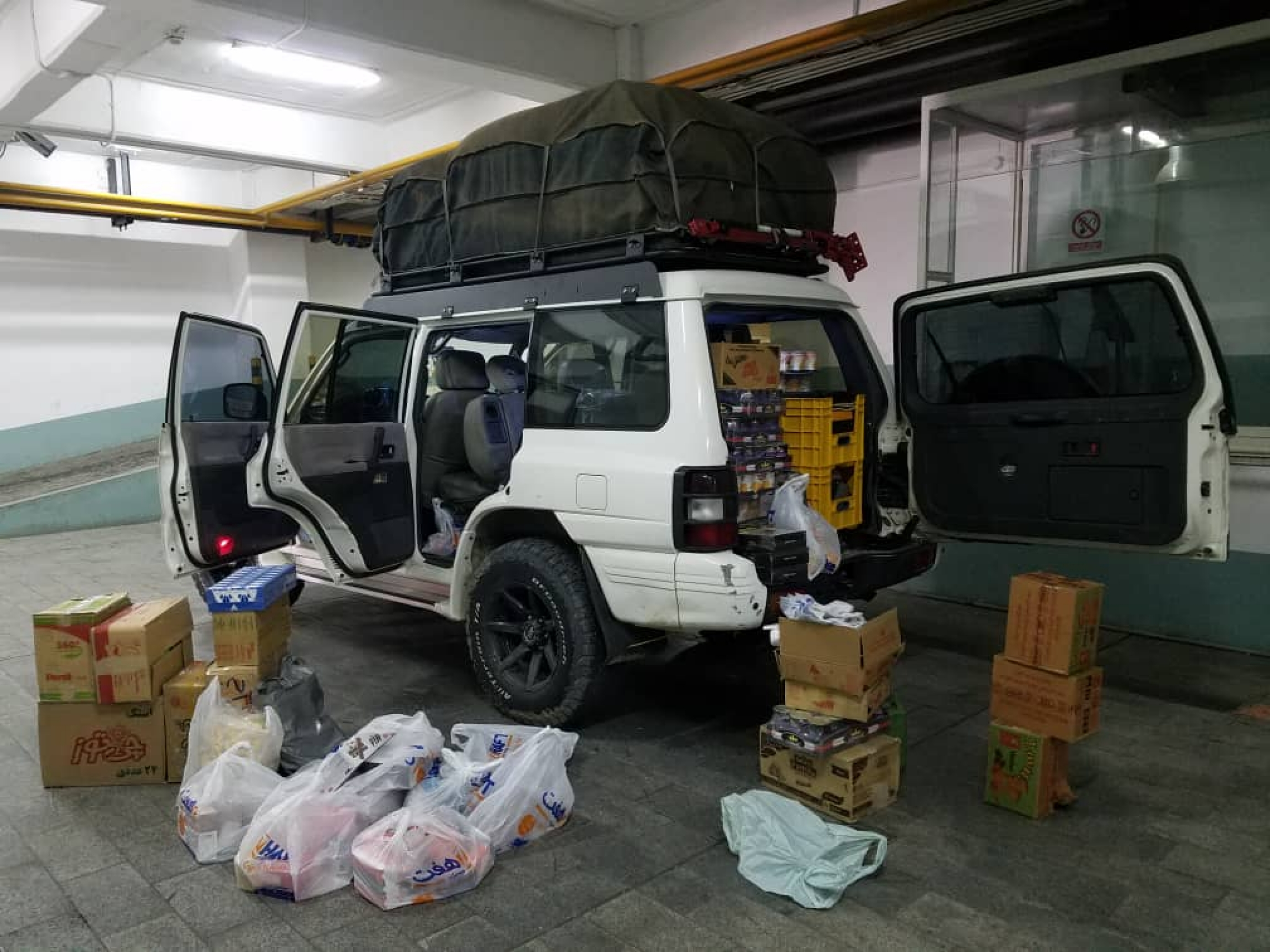 Ali Asaei, resident of Tehran decieded to collect donations for residents in the flooded areas.