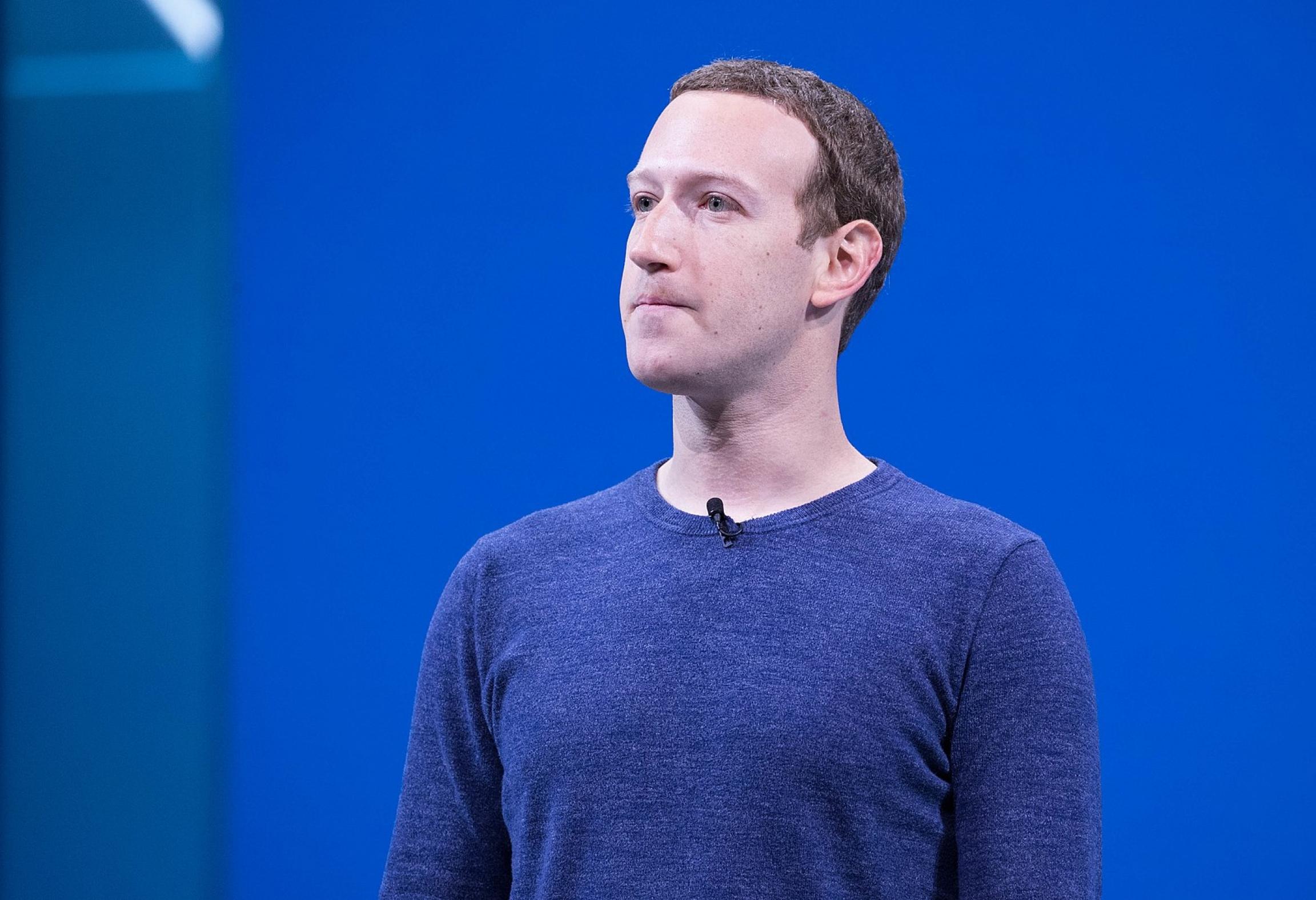 Mark Zuckerberg at the F8 2018 Keynote.