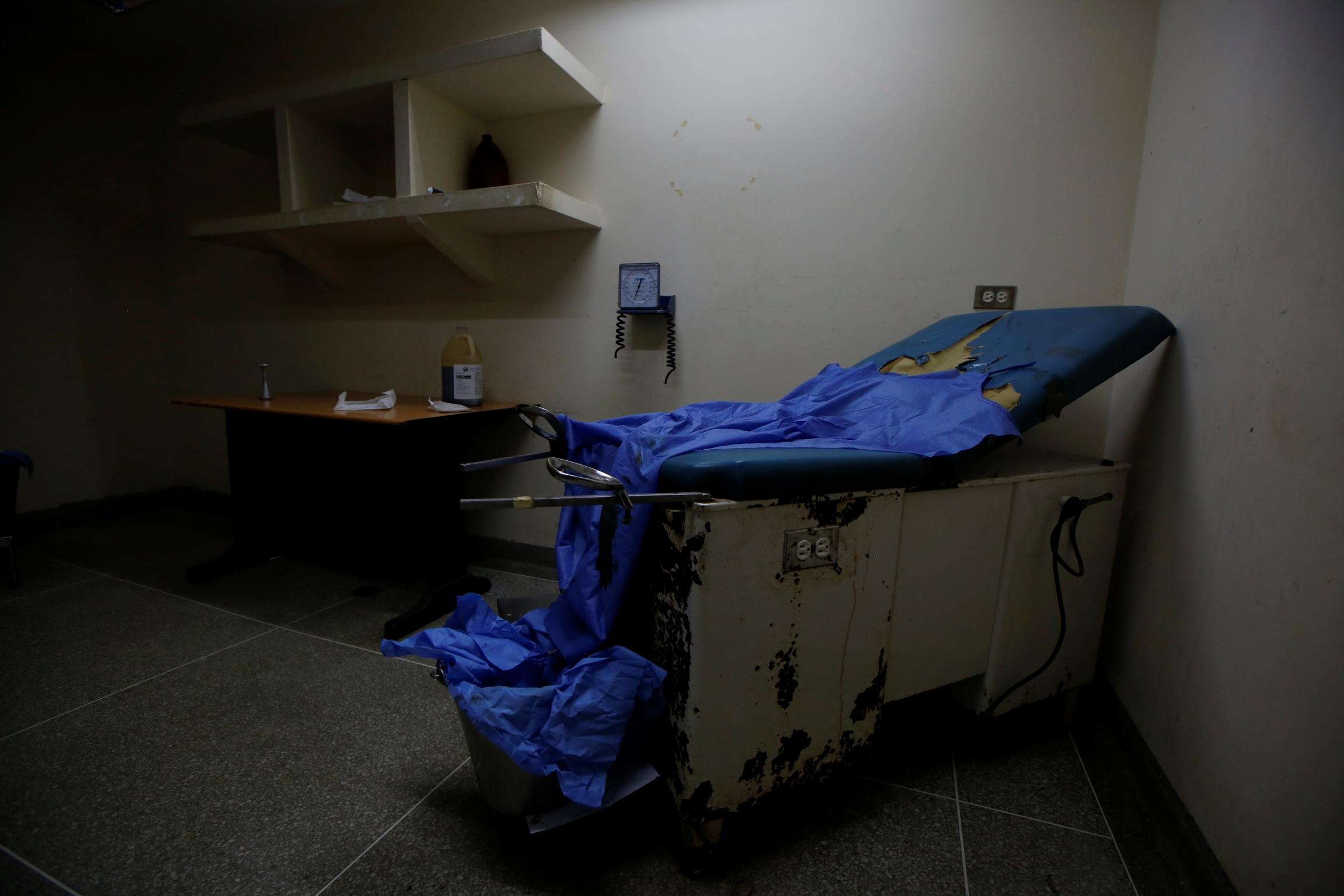 the maternity ward at a beat-up hospital in venezuela