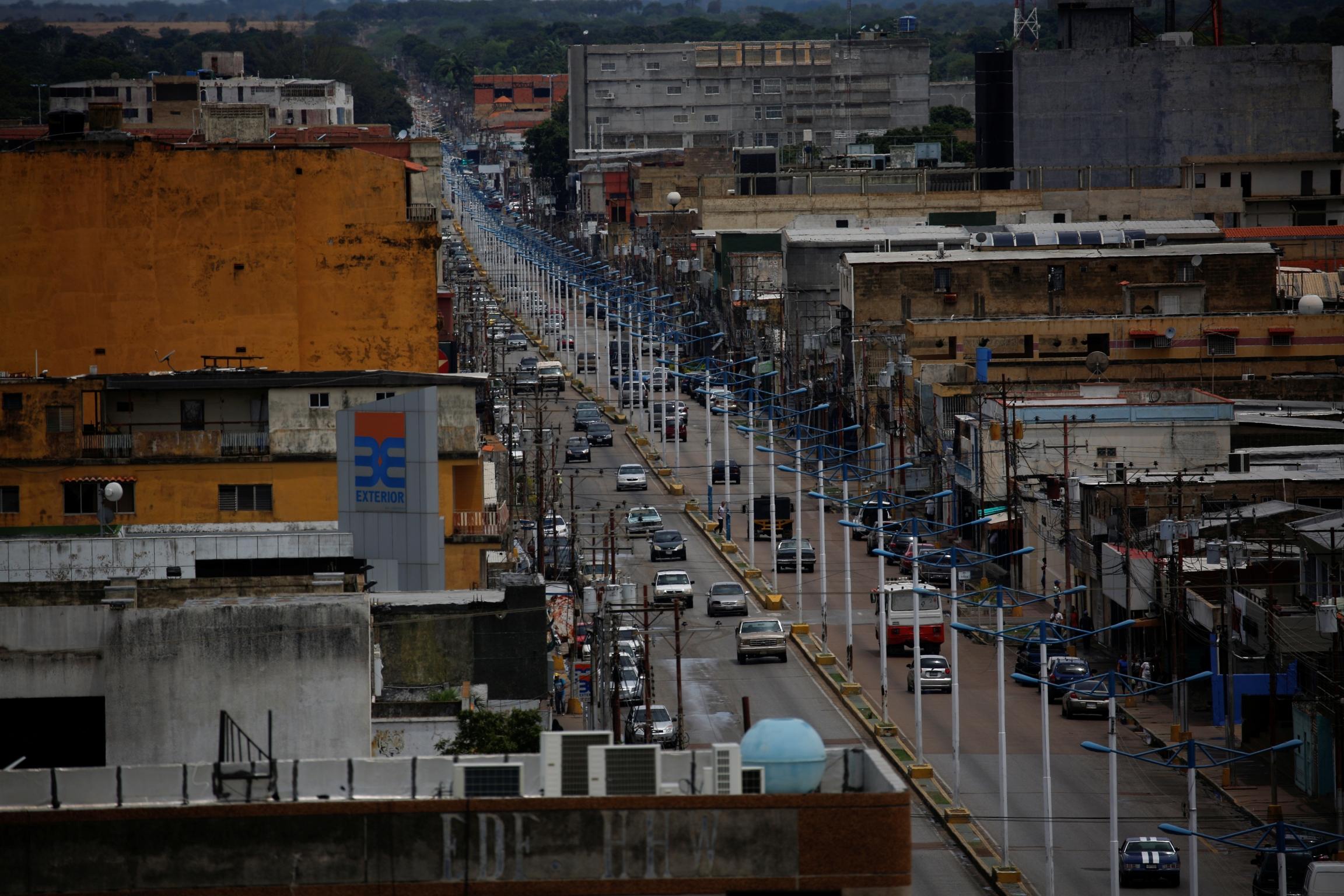 an overhead view of the town of El Tigre, Venezuela