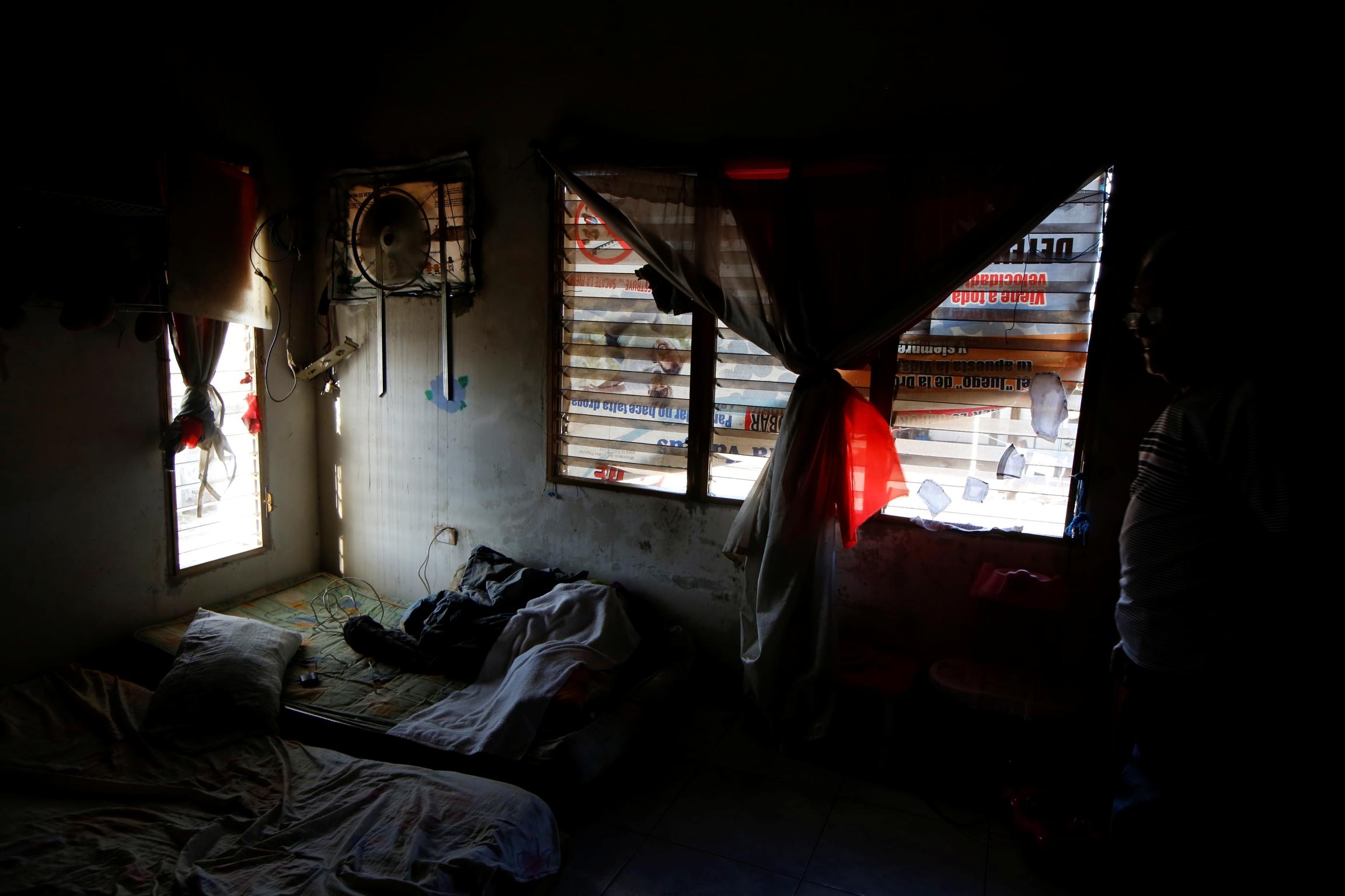 a dilapidated room in venezuela