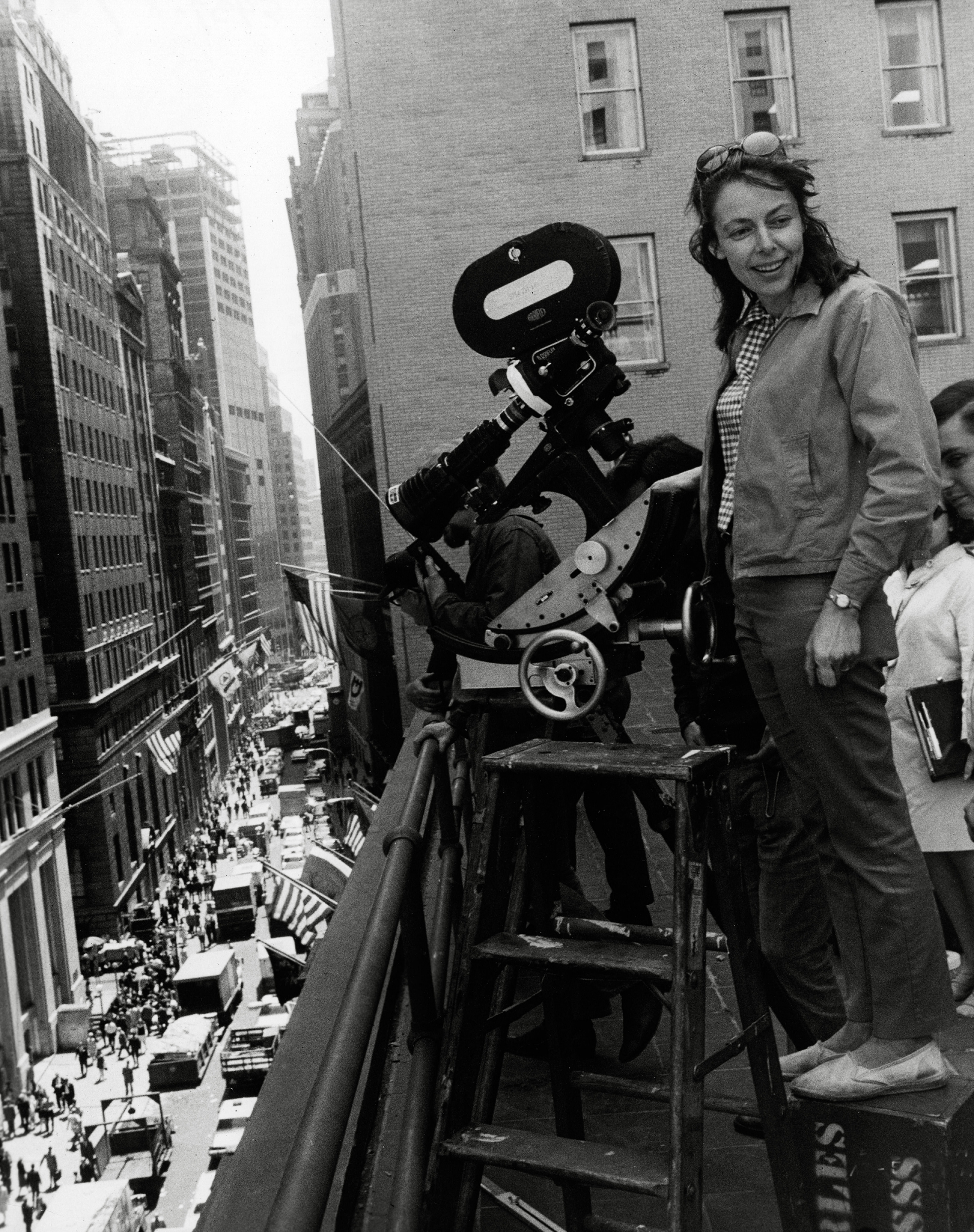 "Elaine May on the set of her first film, ""A New Leaf,"" in 1971."