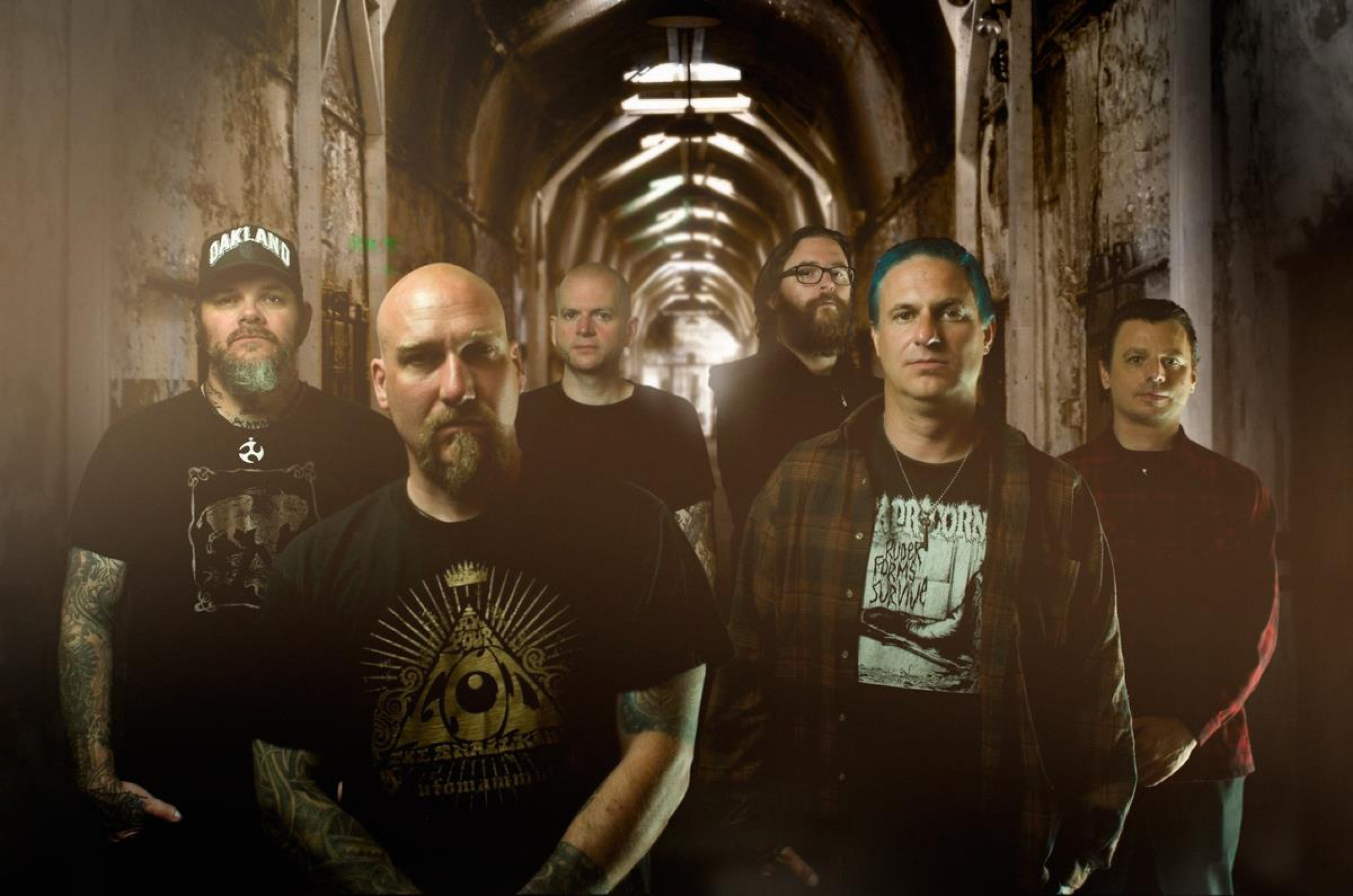 Steve Von Till (front, left) and his band Neurosis.