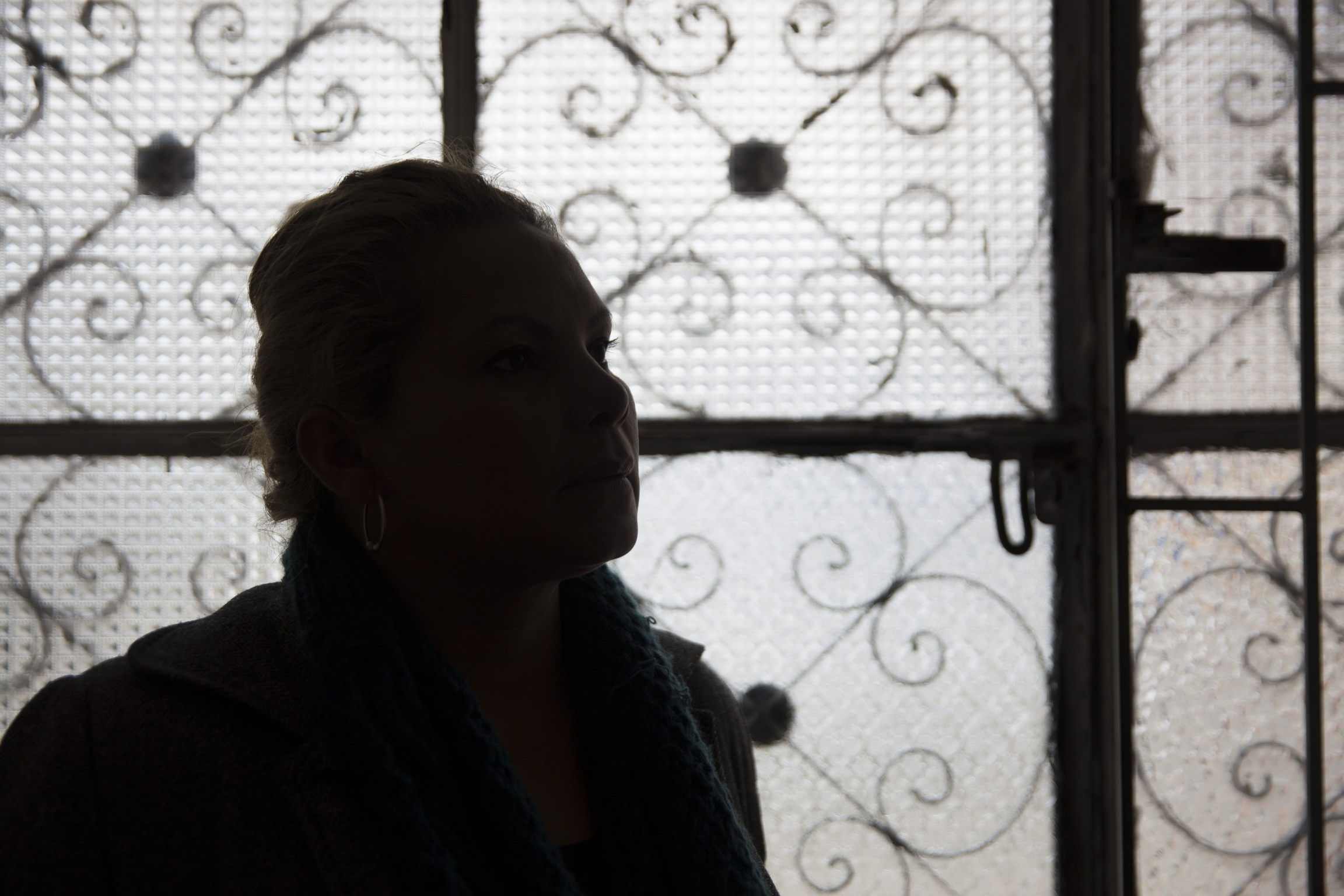 the silhouette of a woman