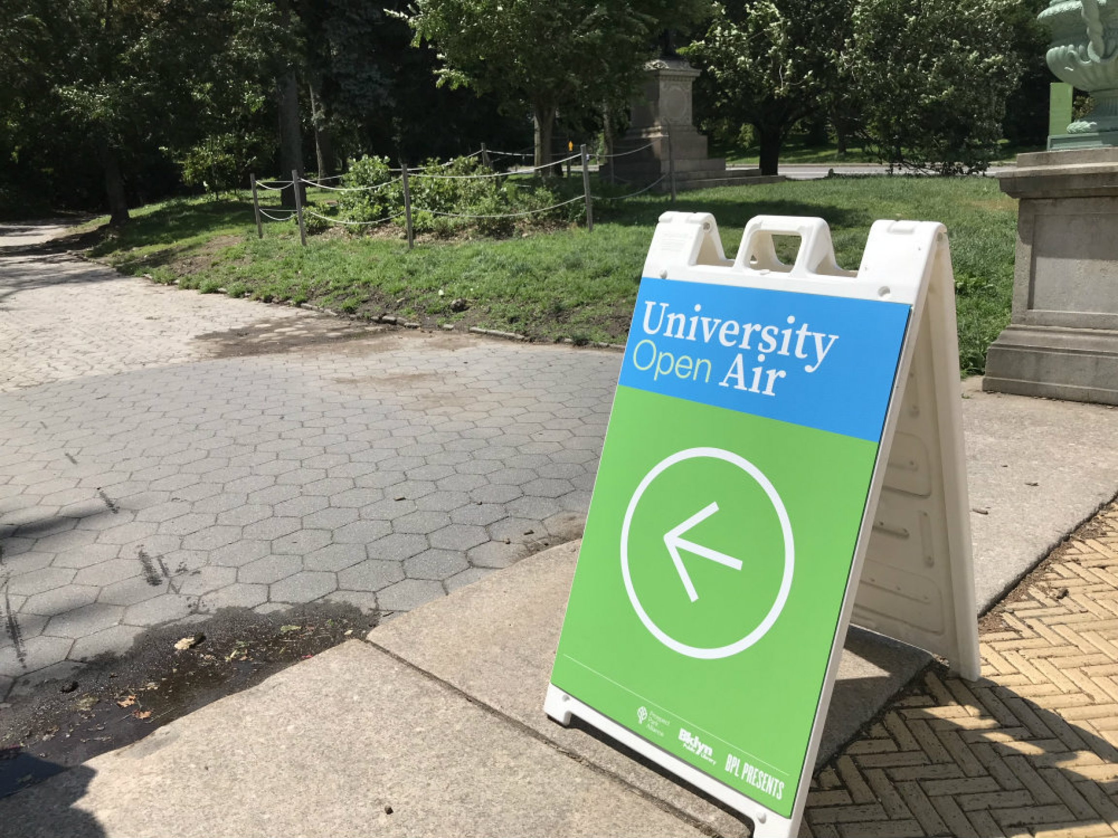 "A sign that says ""Open Air University"""