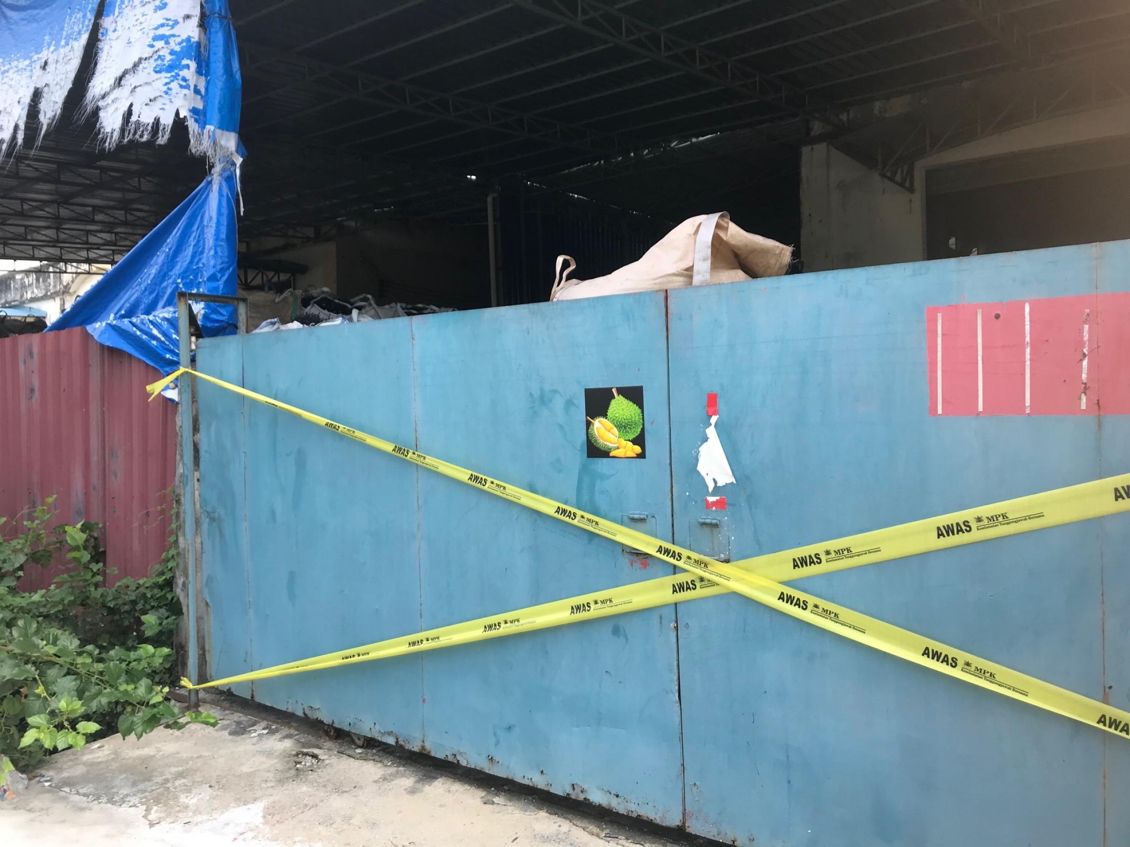 A Malaysian plastics recycling factory