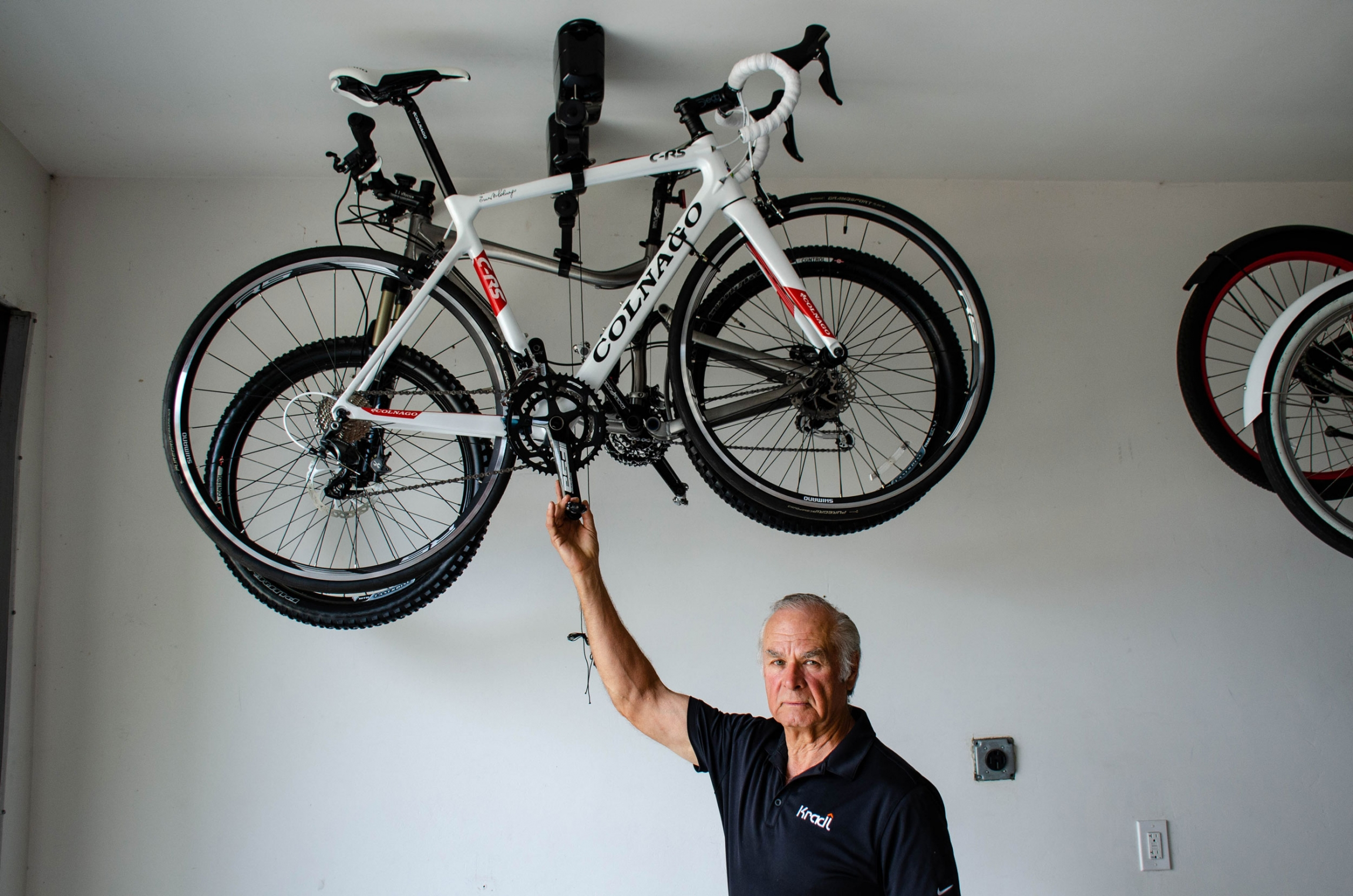 Robert Ozarski says he tried to build his bike lift in the United States, but couldn't find a manufacturer. He quickly found a handful of willing Chinese companies.