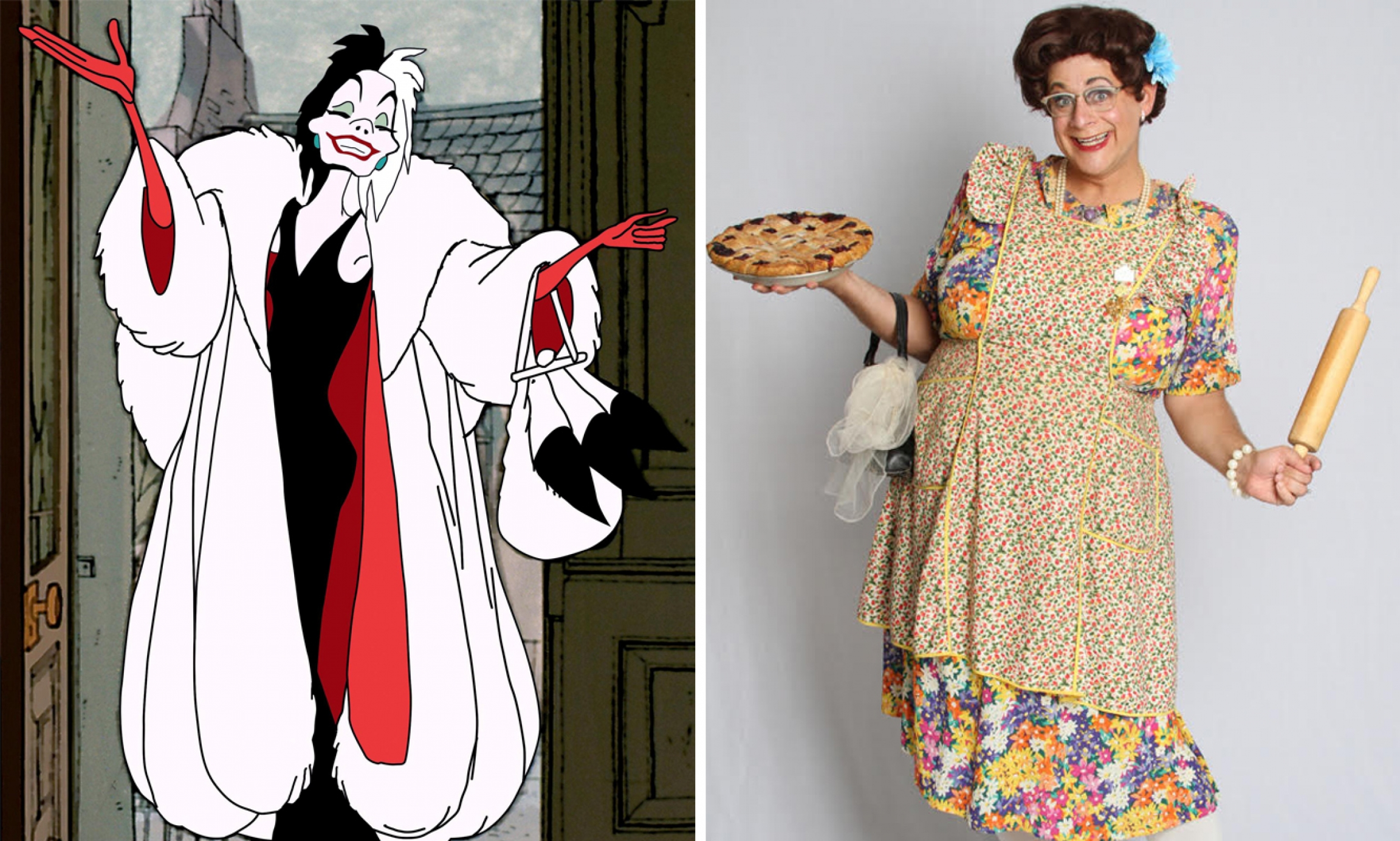 Cruella de Vil and Michael Bowen as Bertha Mason