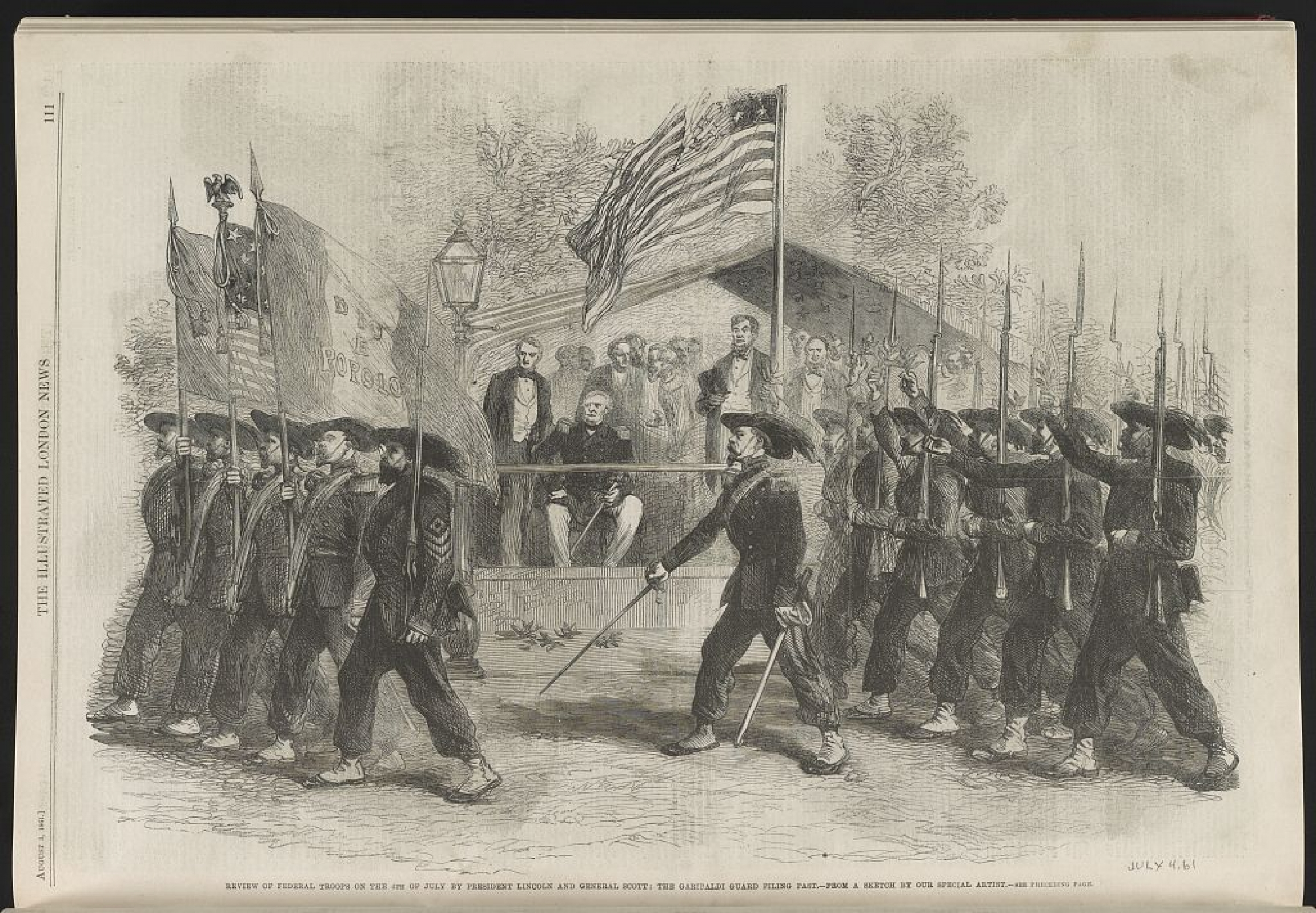 an old military parade in the US