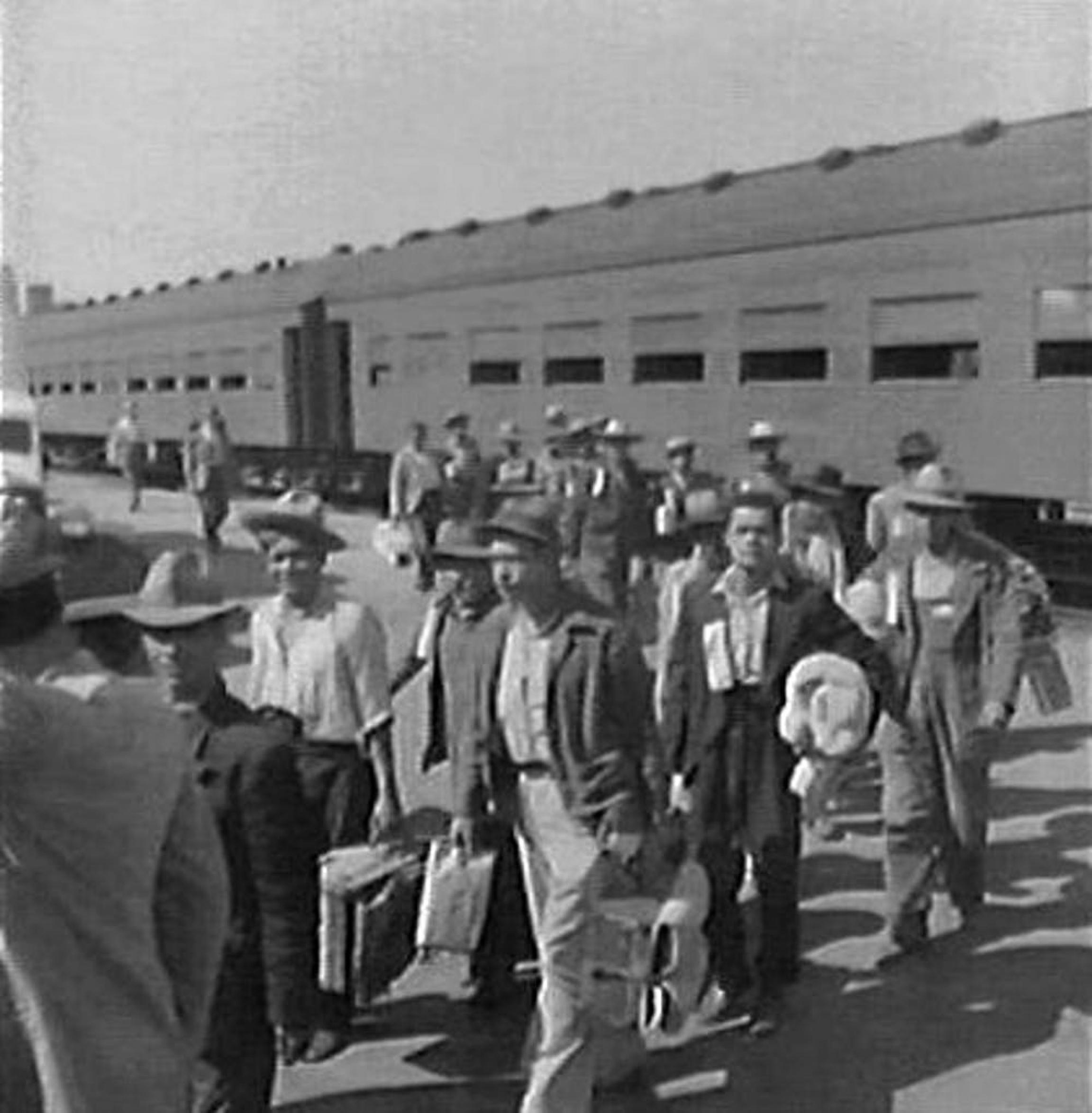 Mexican migrants during the Bracero program.