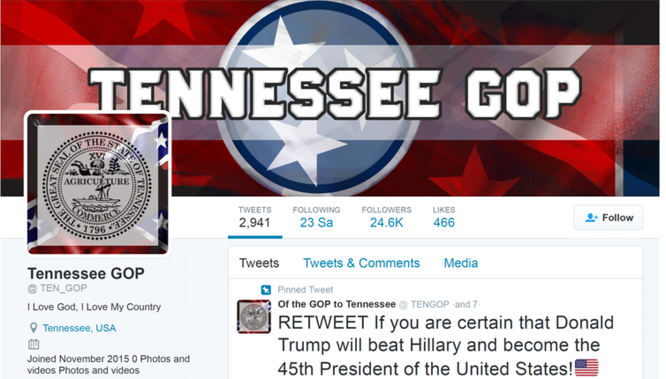 a fake twitter account run by russian trolls