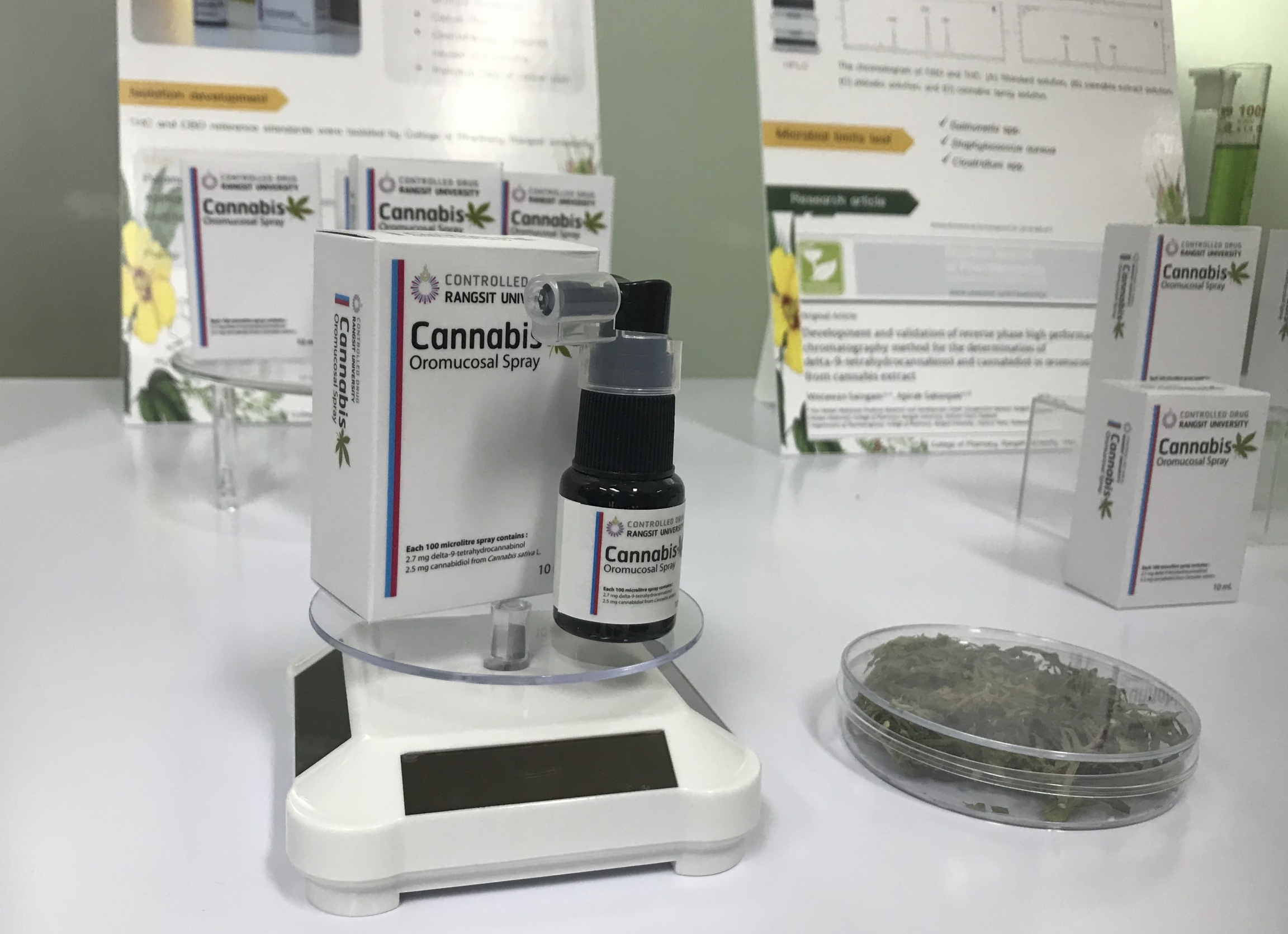 A THC-infused nasal spray invented in a Thai research lab north of Bangkok.