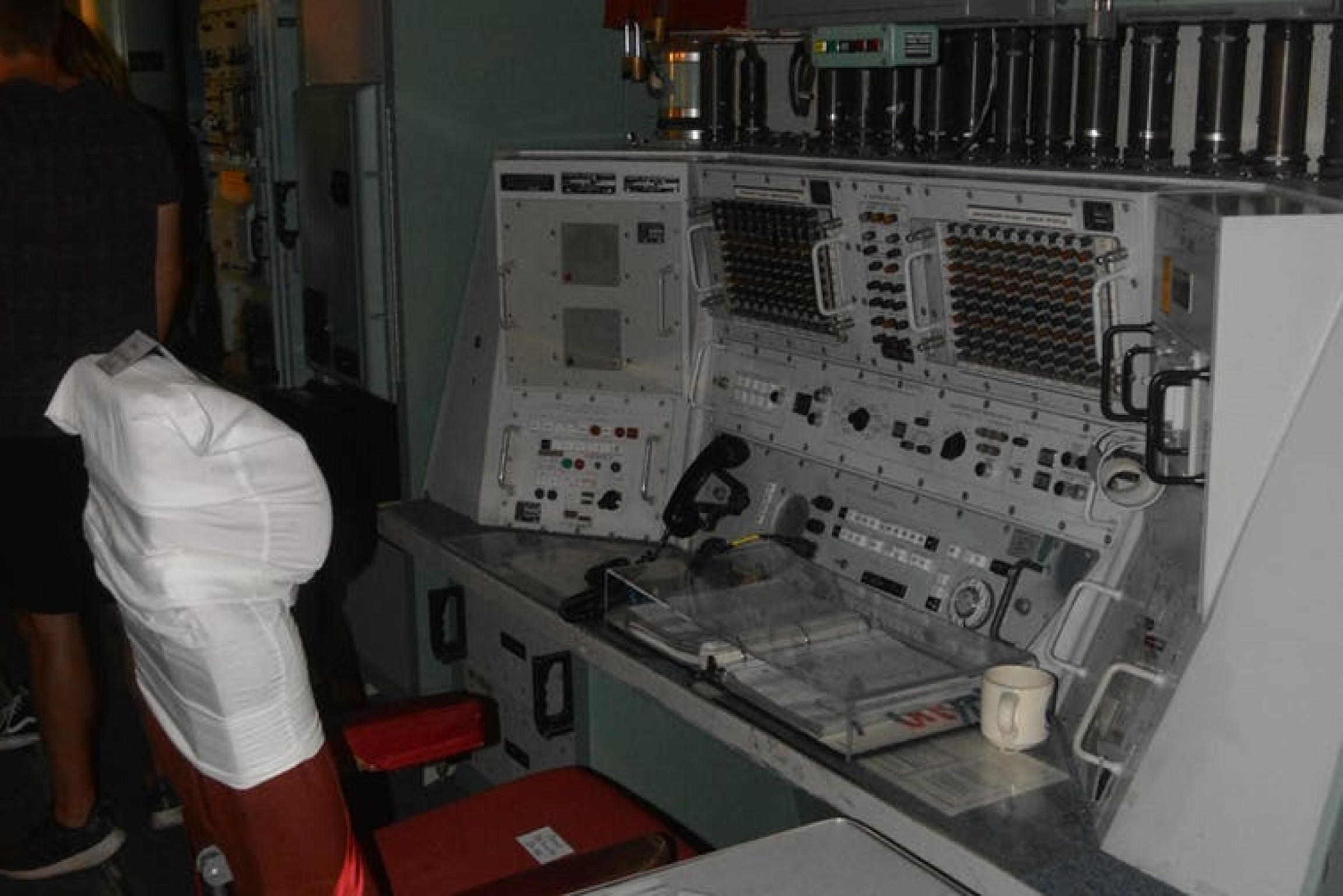 A nuclear operator console.