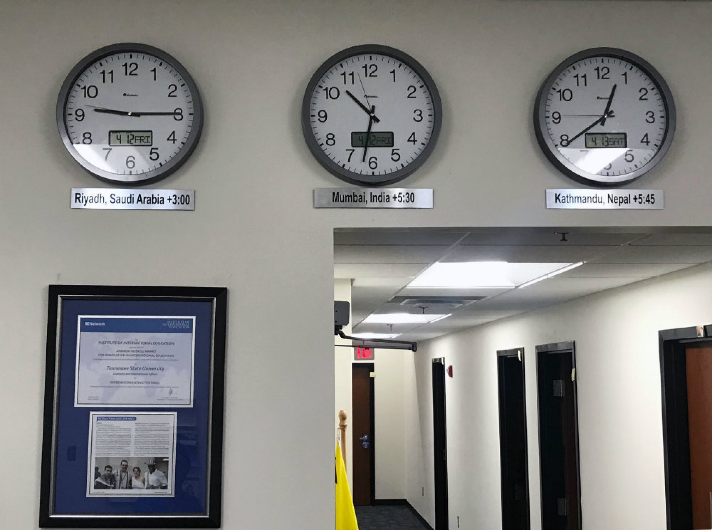 World clocks at Tennessee State University
