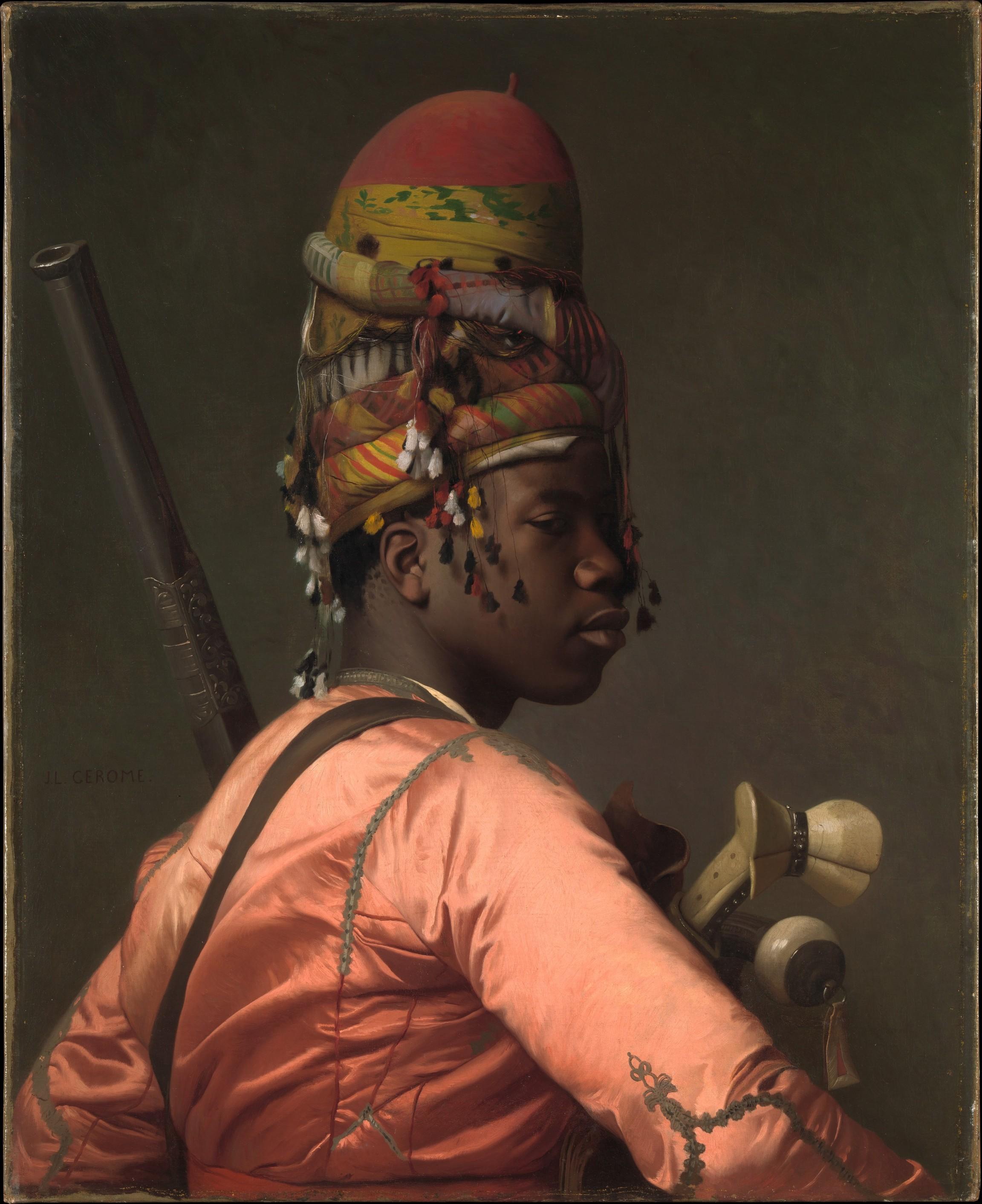 """""""Bashi-Bazouk"""" by Jean-Léon Gérôme, 1868-69."""