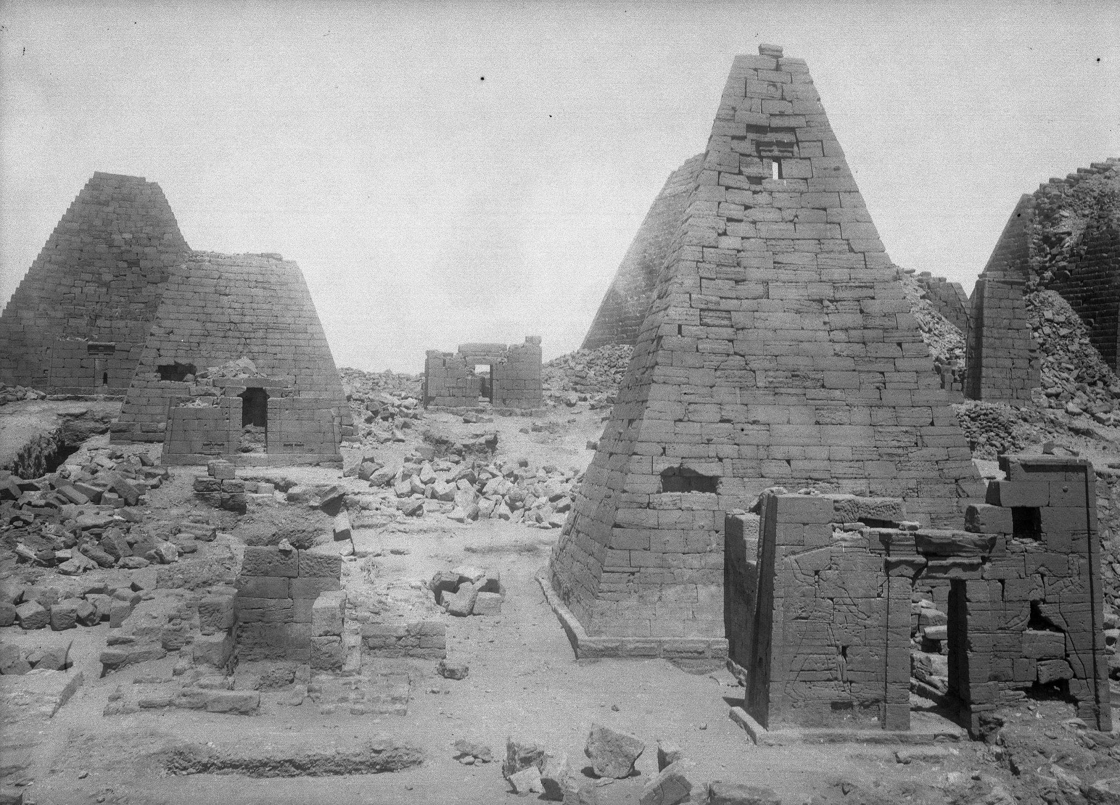 Begrawiya: North Cemetery at Meroe, Pyramids N 32 and N 19, April 12, 1921