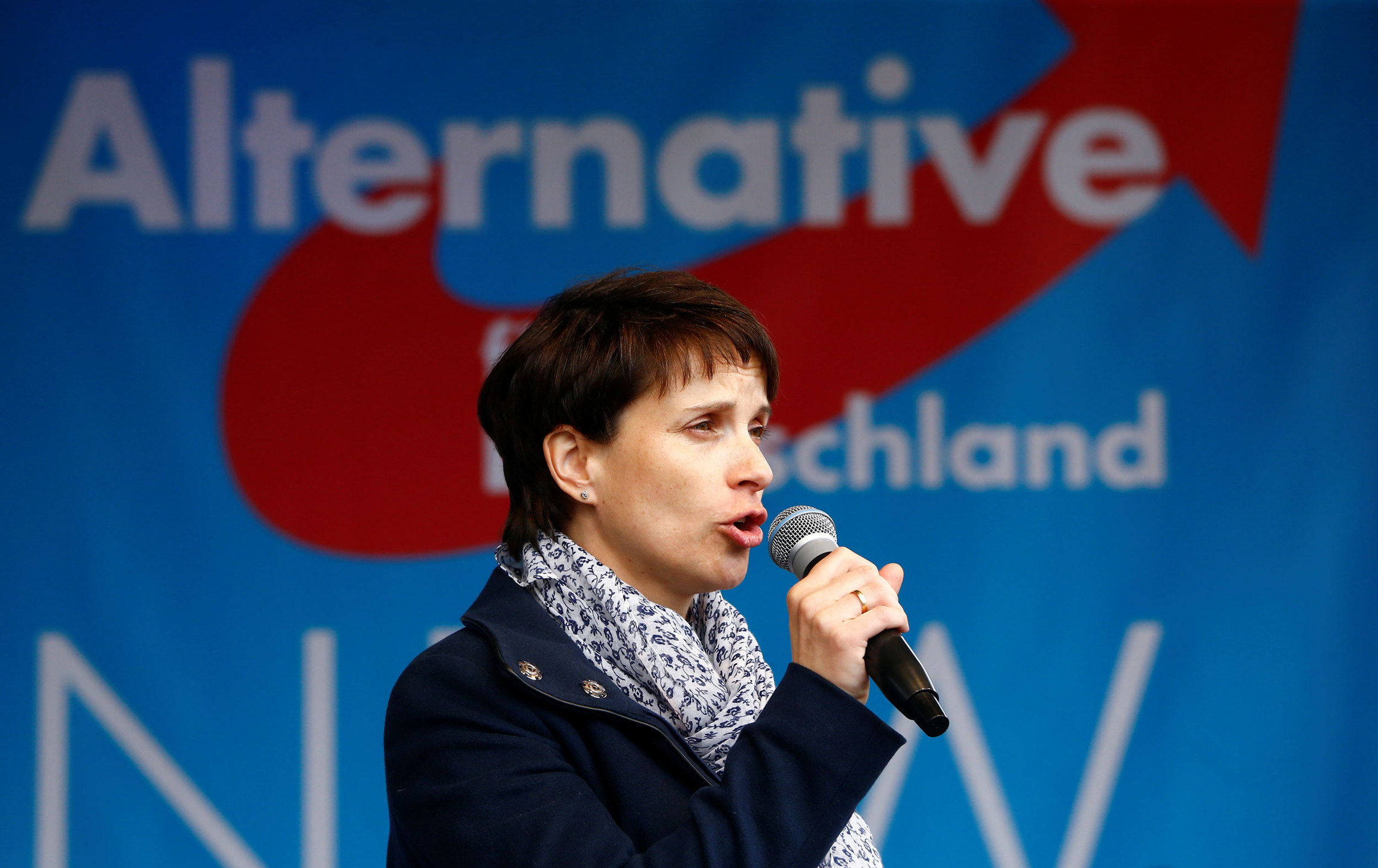 "Frauke Petry, the former leader of the anti-immigration party, Alternative for Germany (AfD), said Trump's election heralded ""a new era."""